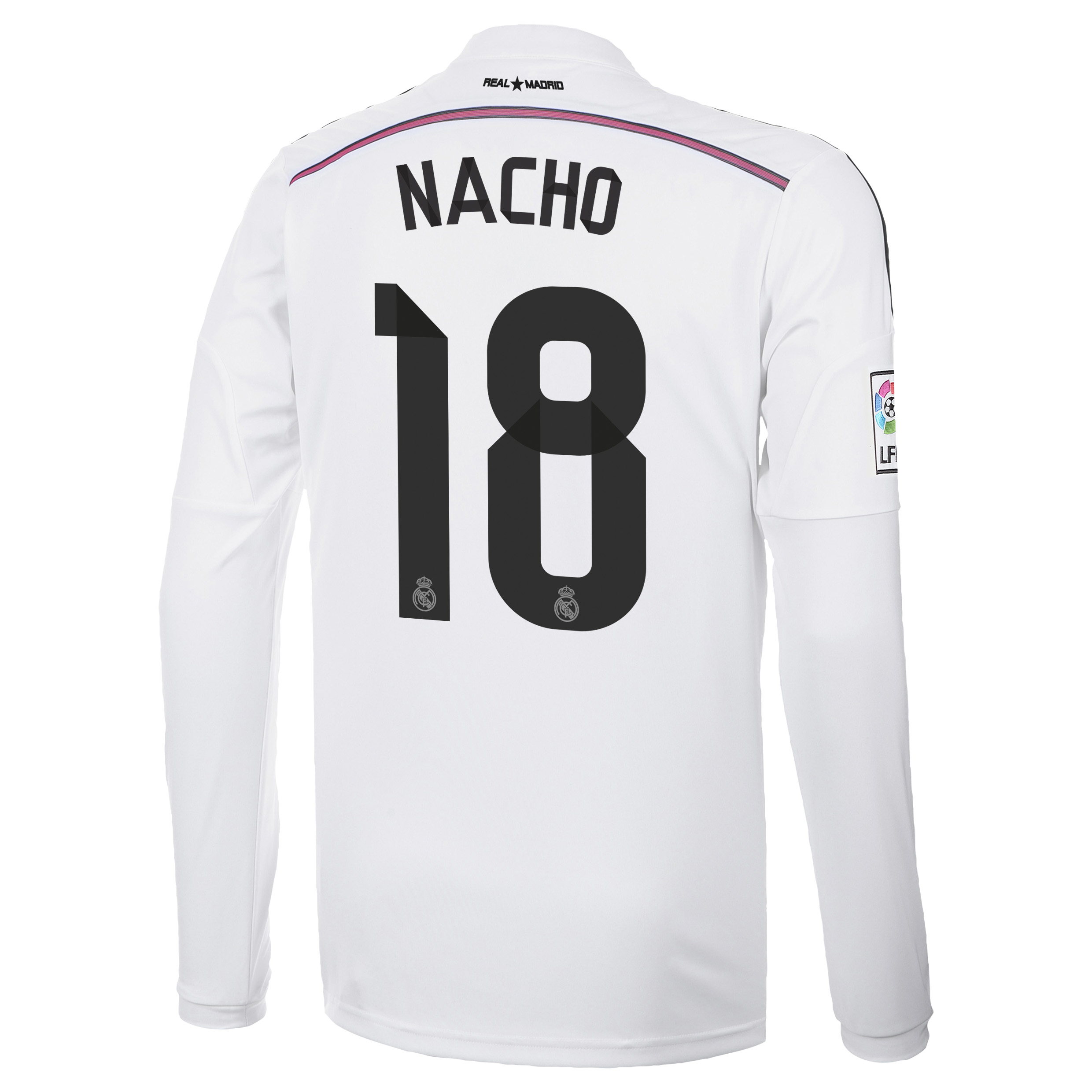 Real Madrid Home Shirt 2014/15 Long Sleeve with Nacho 18 printing