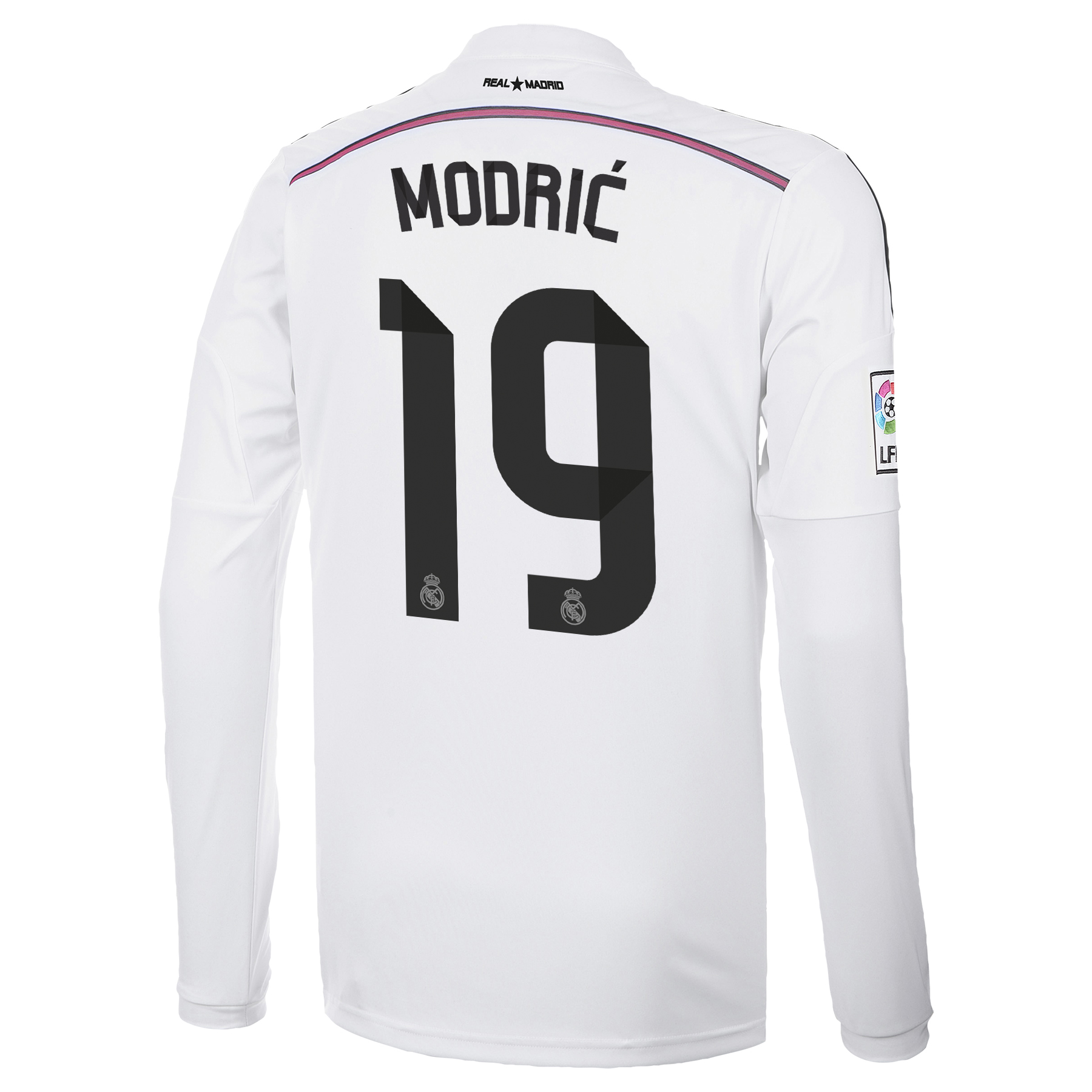 Real Madrid Home Shirt 2014/15 Long Sleeve with Modric 19 printing