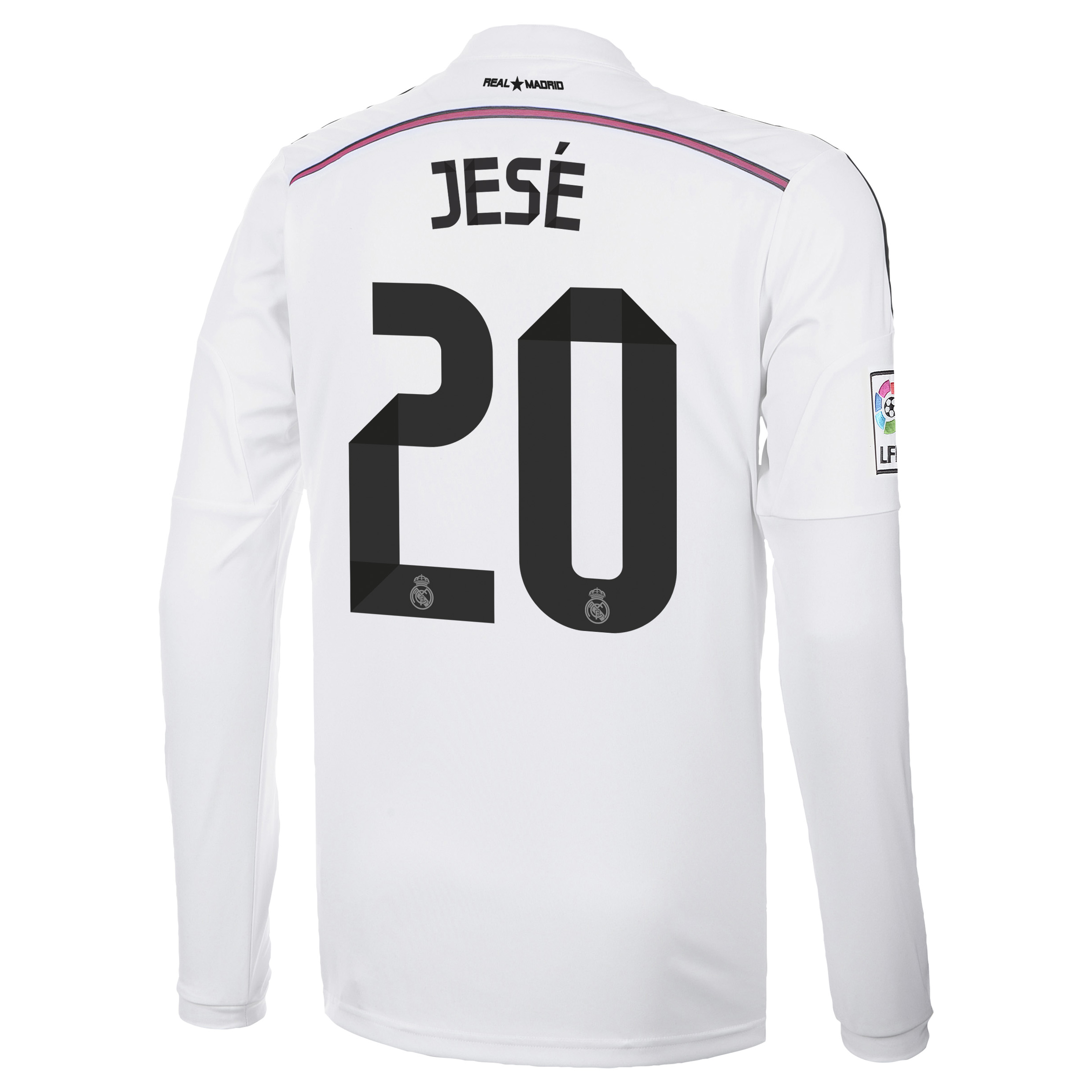 Real Madrid Home Shirt 2014/15 Long Sleeve with Jese 20 printing