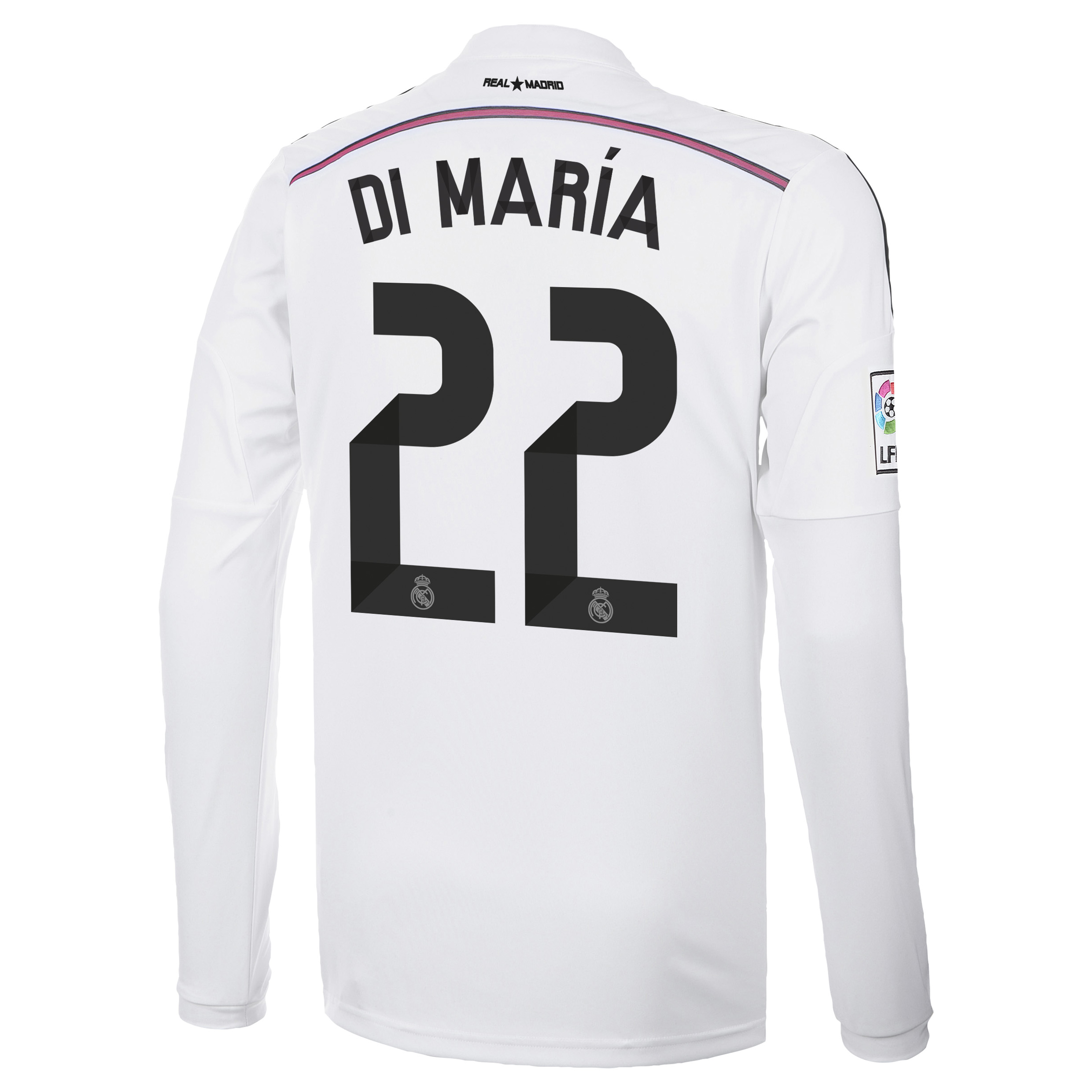Real Madrid Home Shirt 2014/15 Long Sleeve with Di María 22 printing