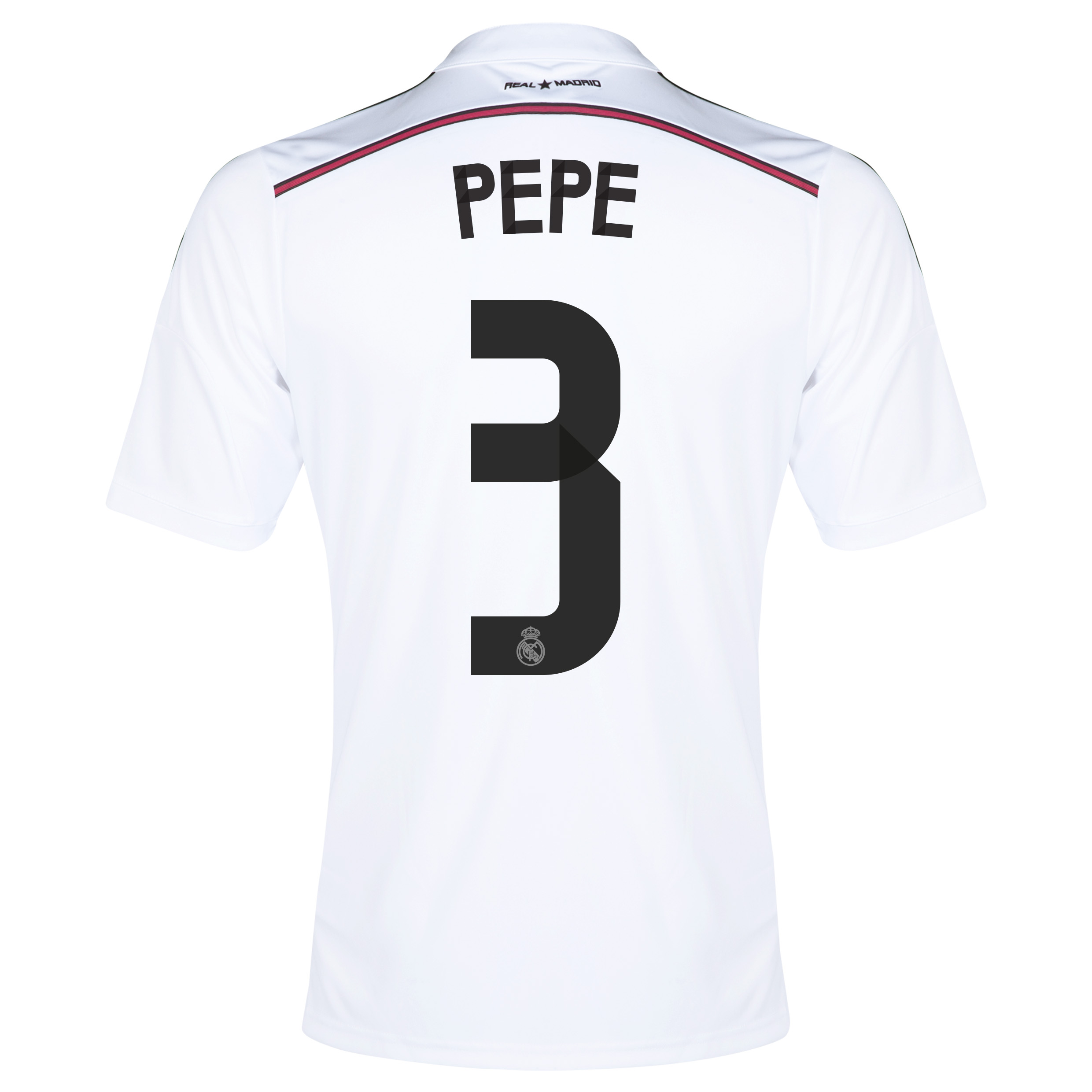 Real Madrid Home Shirt 2014/15 - Kids with Pepe 3 printing