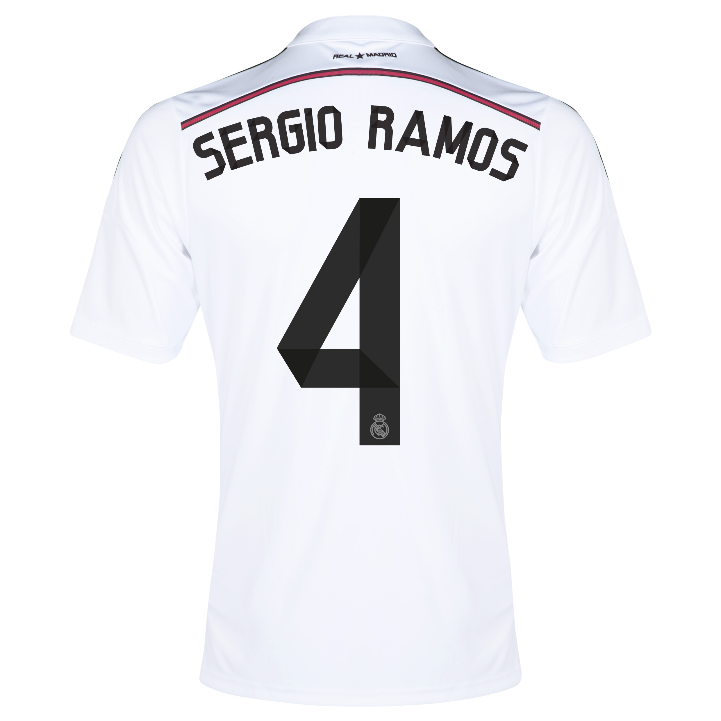 Real Madrid Home Shirt 2014/15 - Kids with Sergio Ramos 4 printing