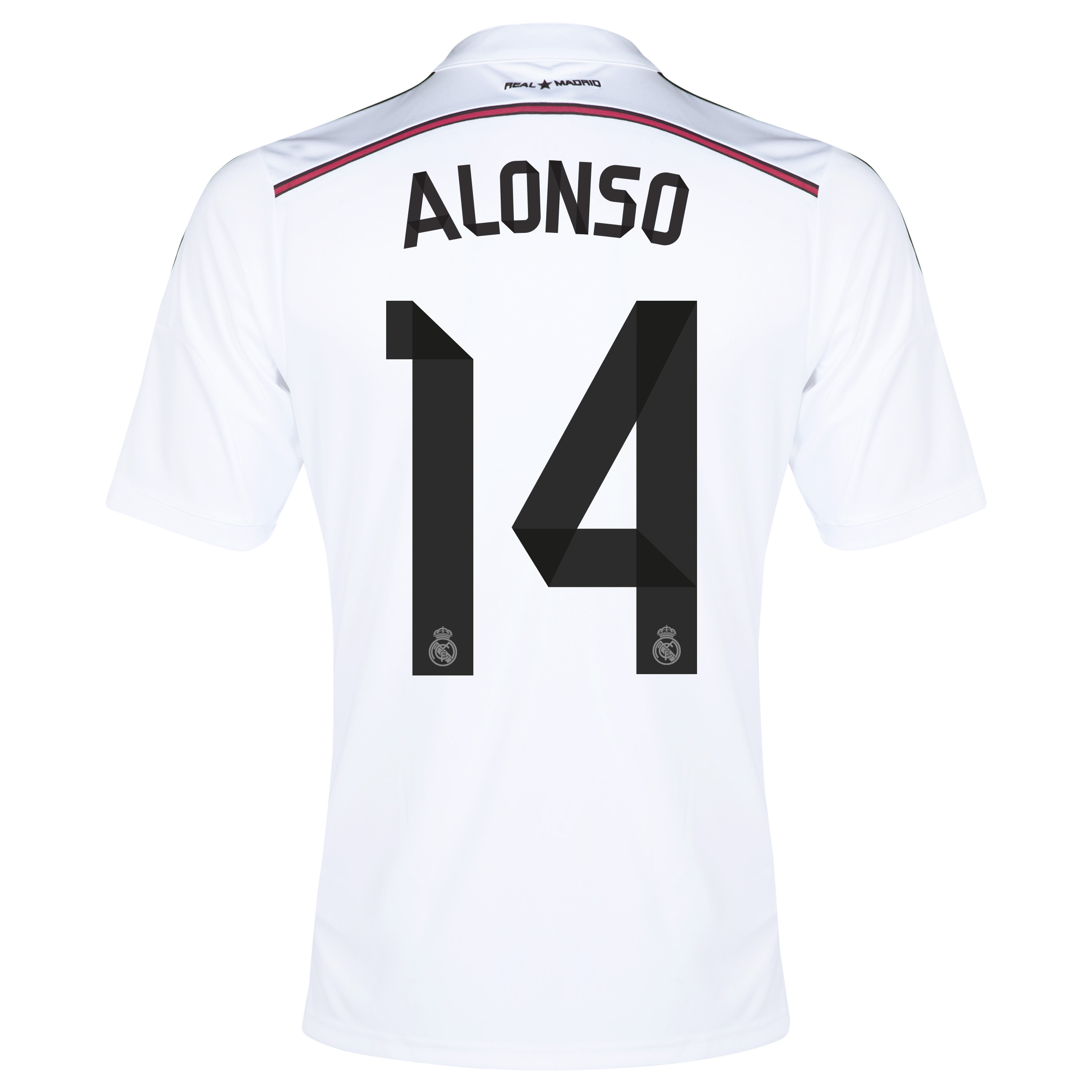 Real Madrid Home Shirt 2014/15 - Kids with Alonso 14 printing