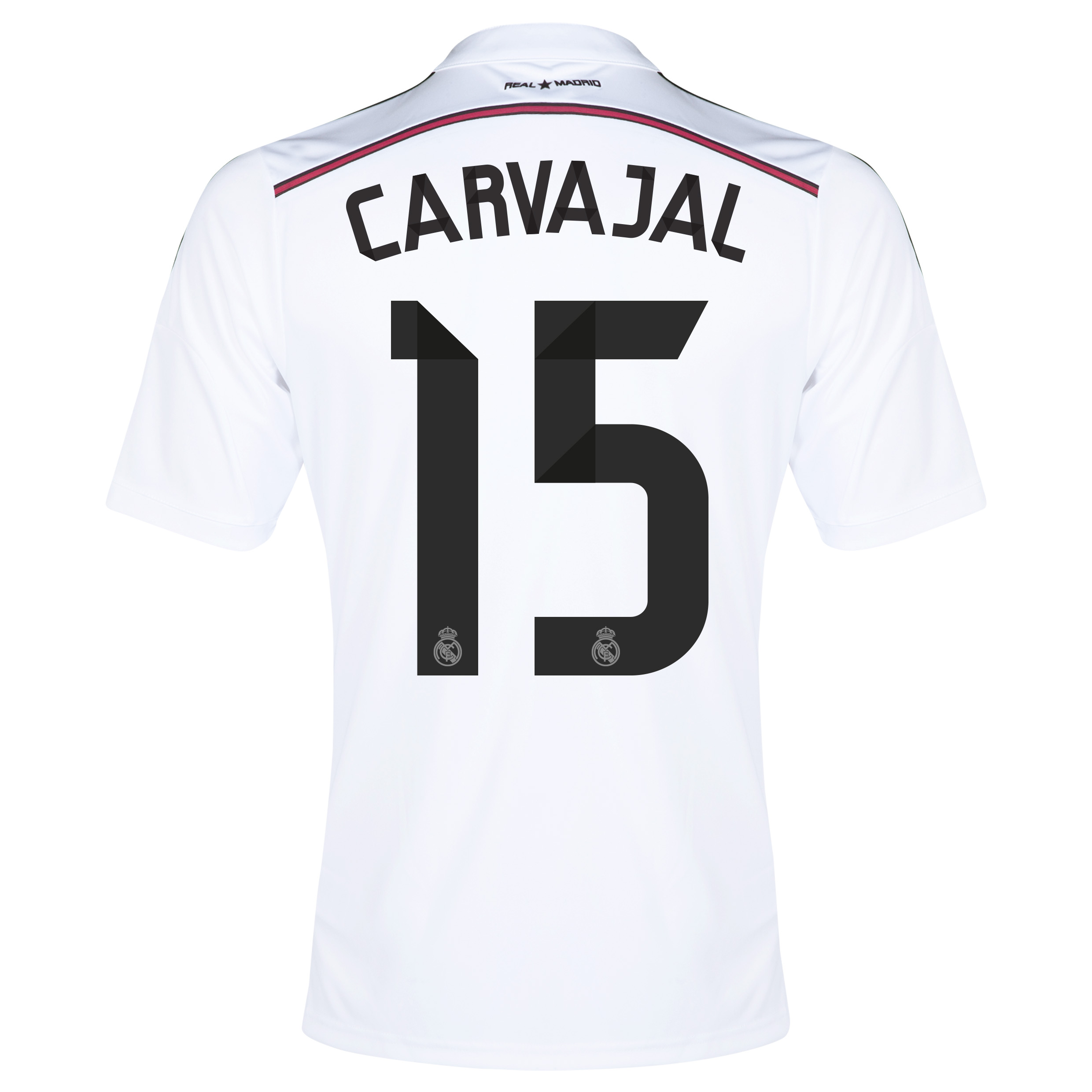 Real Madrid Home Shirt 2014/15 - Kids with Carvajal 15 printing