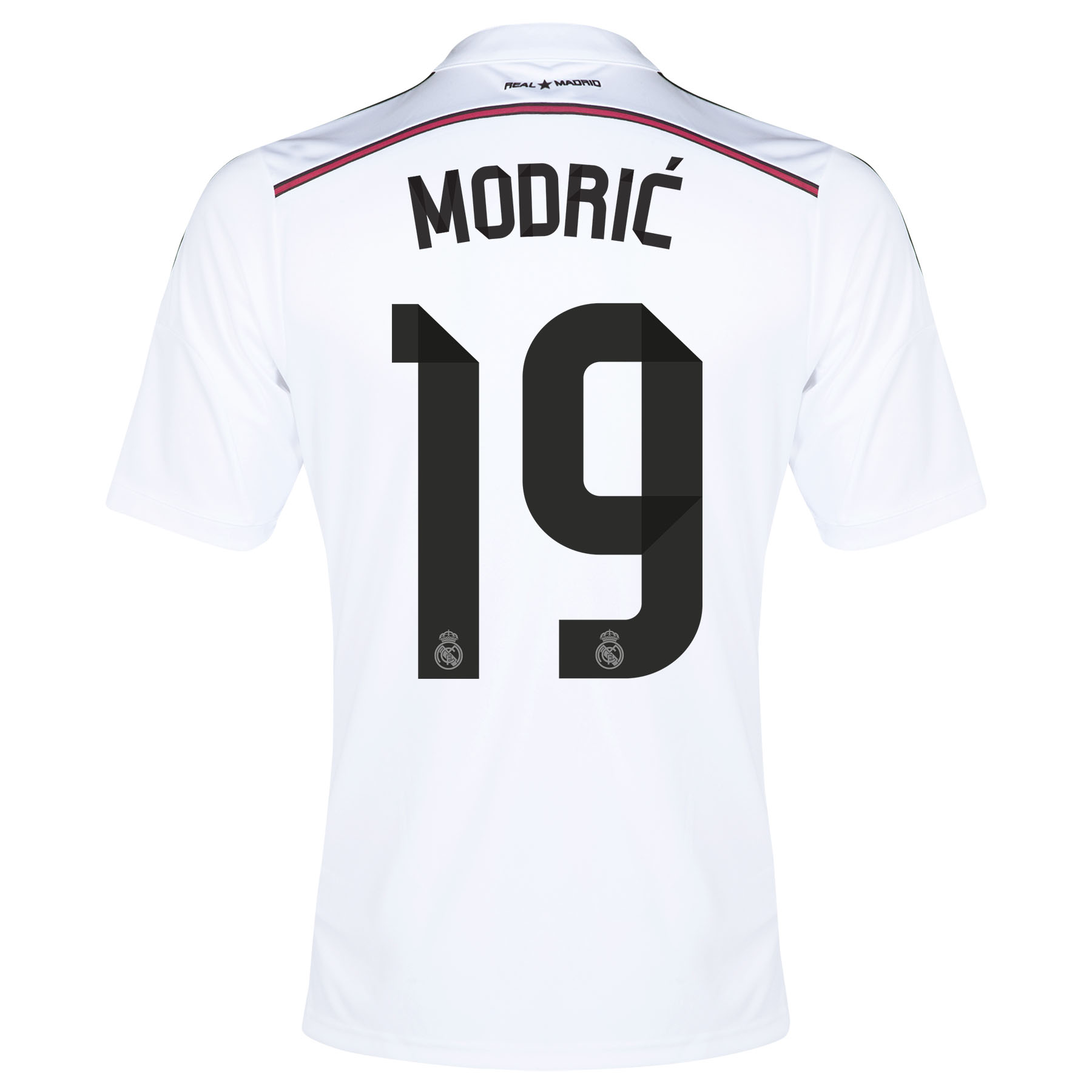 Real Madrid Home Shirt 2014/15 - Kids with Modric 19 printing