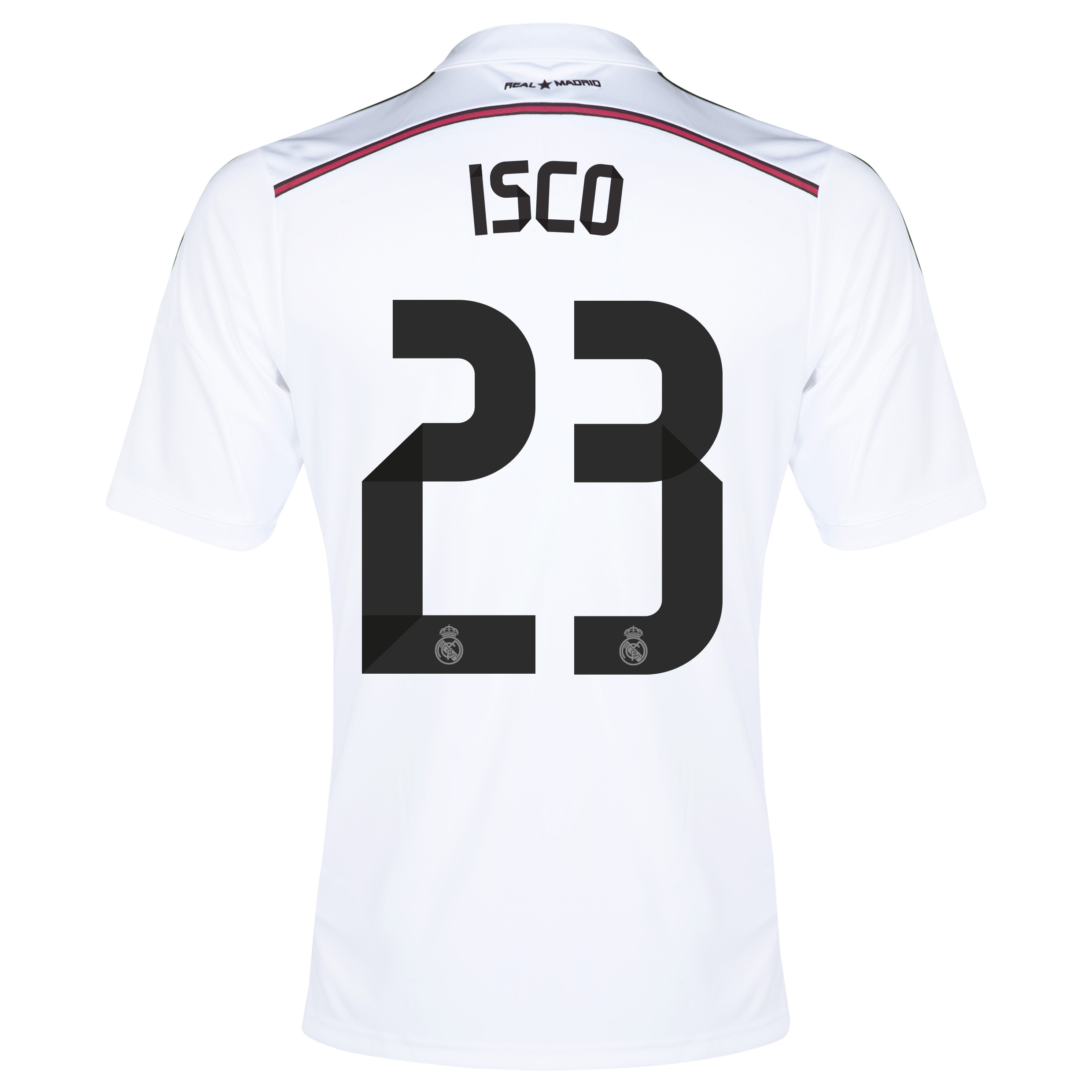 Real Madrid Home Shirt 2014/15 - Kids with Isco 23 printing