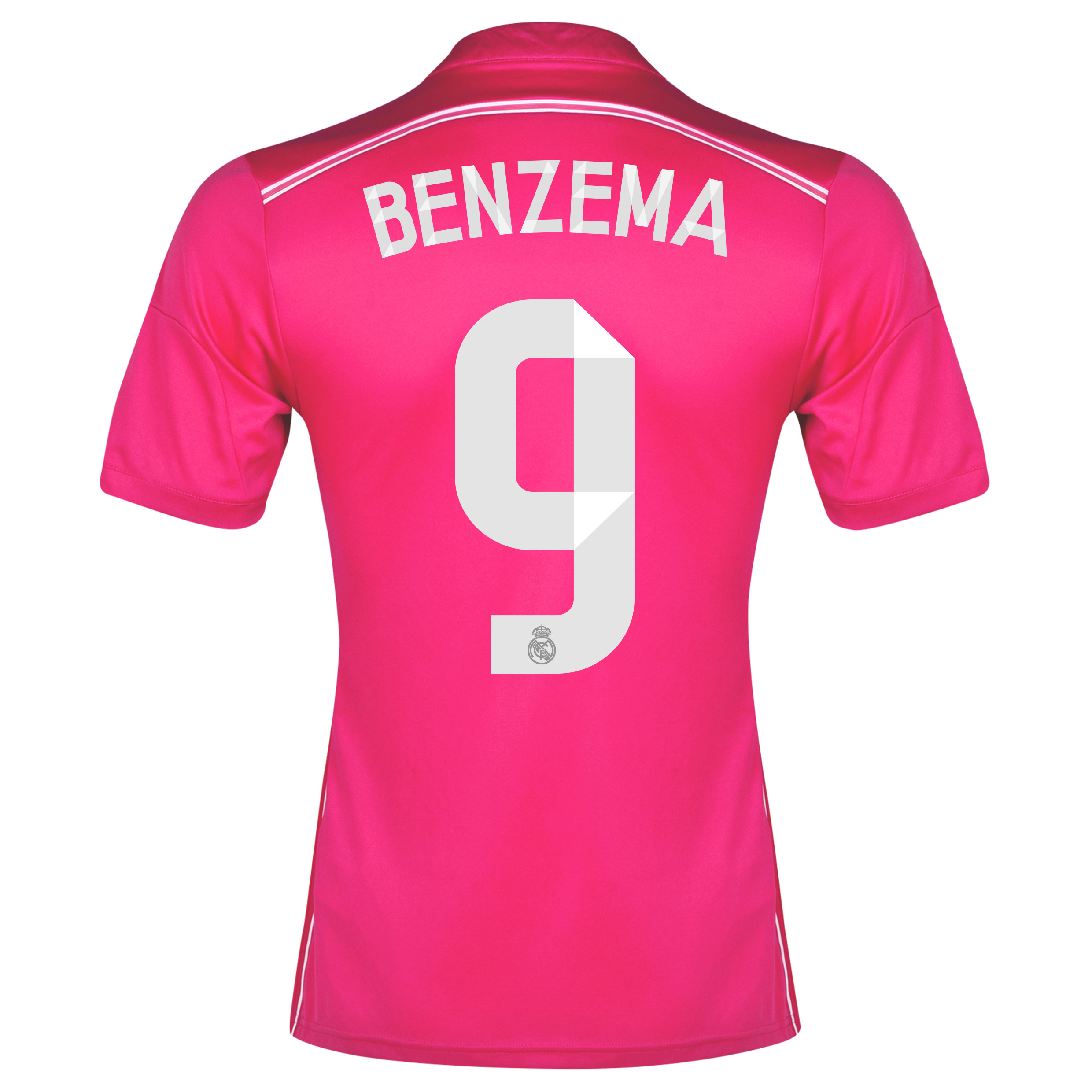 Real Madrid Away Shirt 2014/15 with Benzema 9 printing