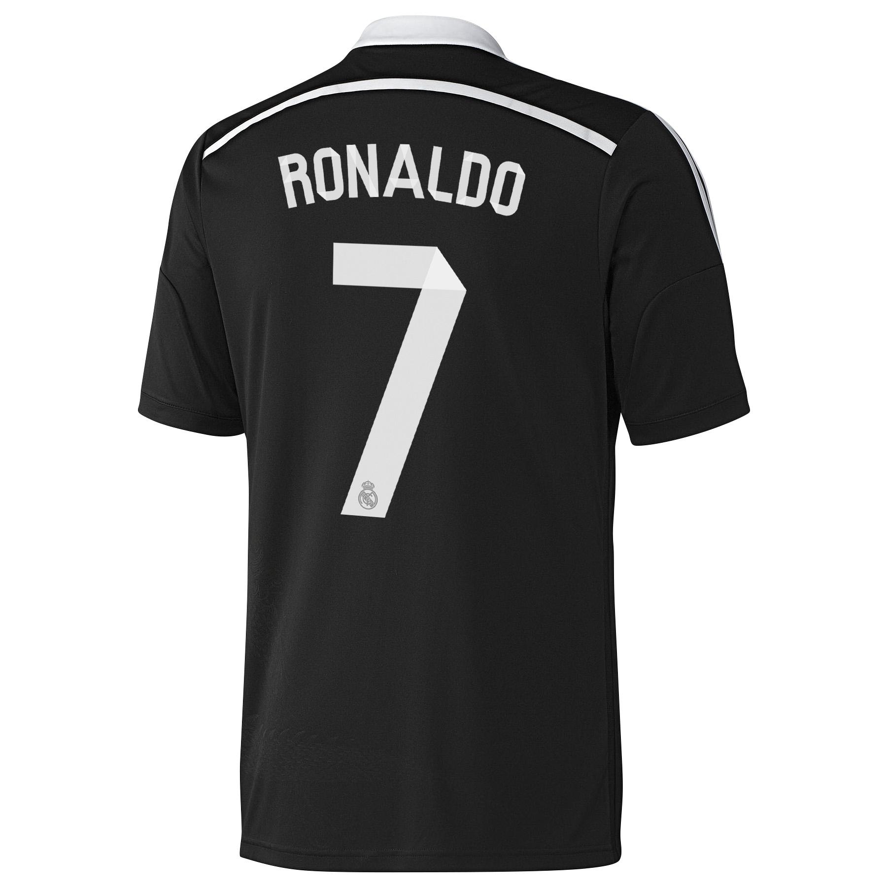 Real Madrid Third Shirt 2014/15 - Kids Black with Ronaldo 7 printing