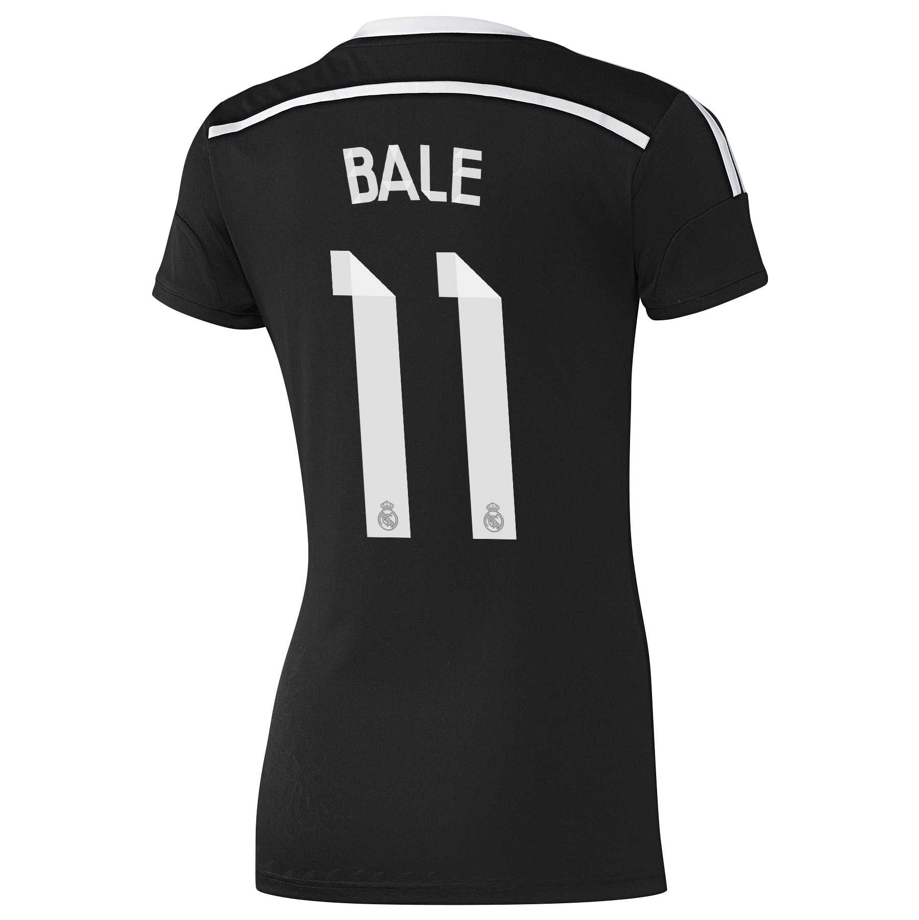 Real Madrid Third Shirt 2014/15 - Womens Black with Bale 11 printing