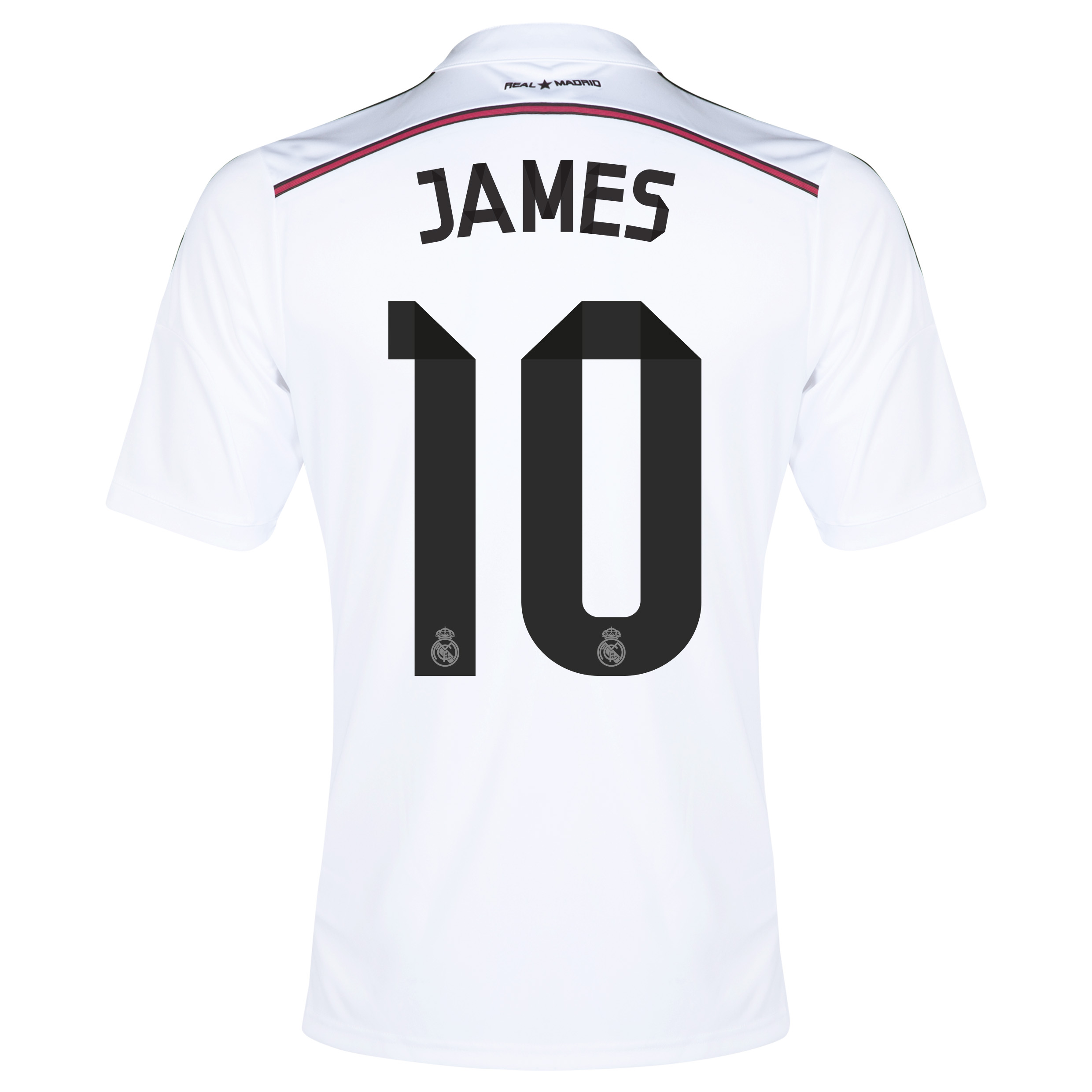 Real Madrid Home Shirt 2014/15 with James 10 printing