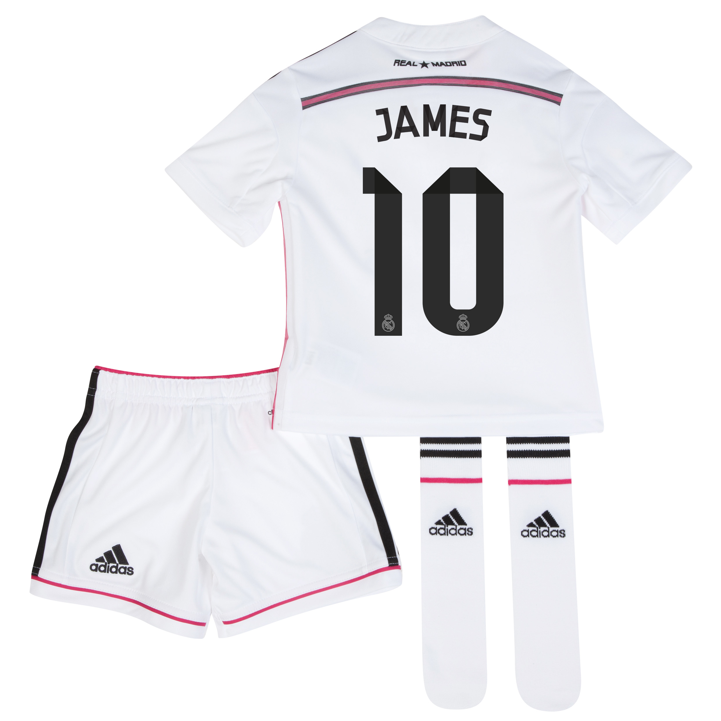 Real Madrid Home Mini Kit 2014/15 with James 10 printing
