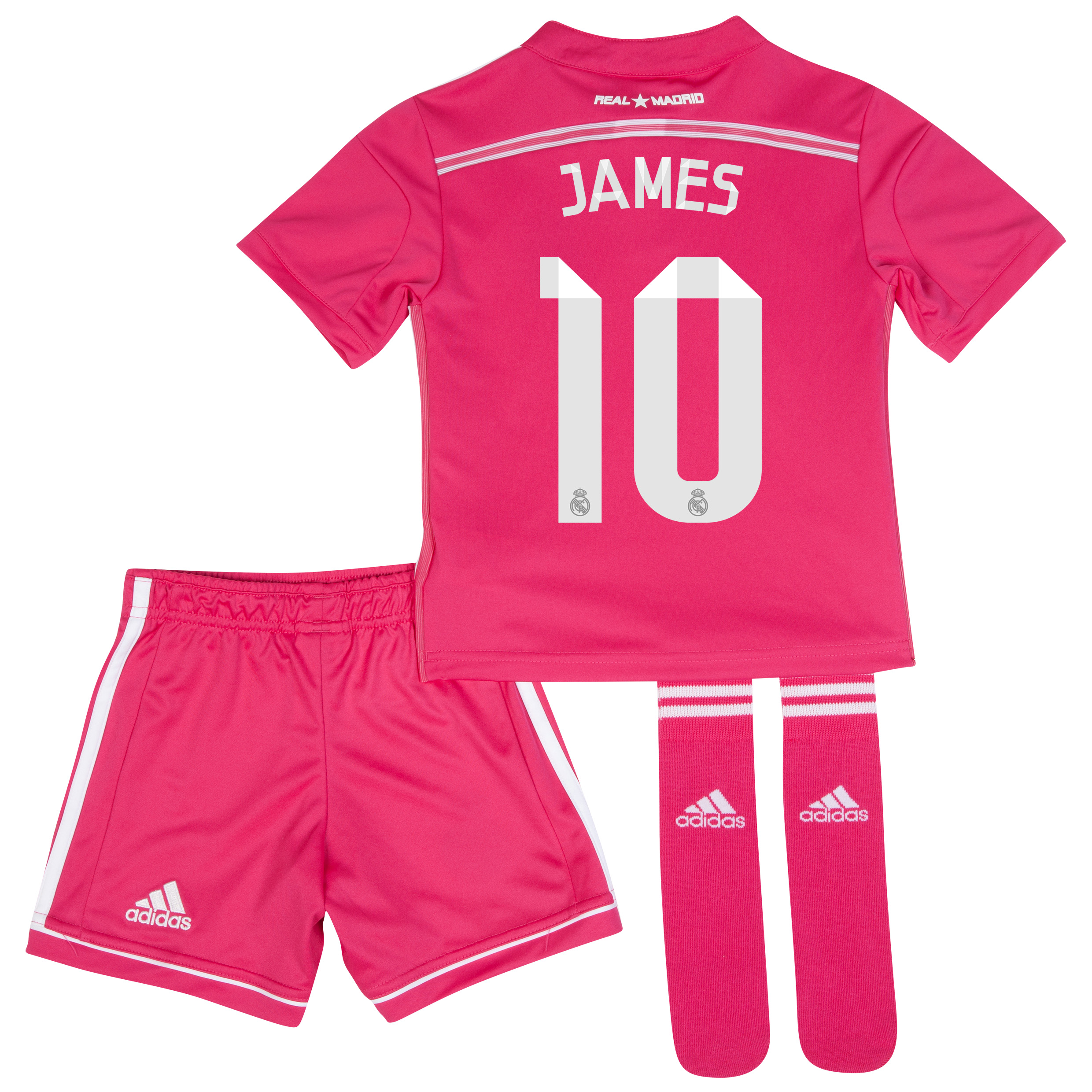 Real Madrid Away Mini Kit 2014/15 with James 10 printing