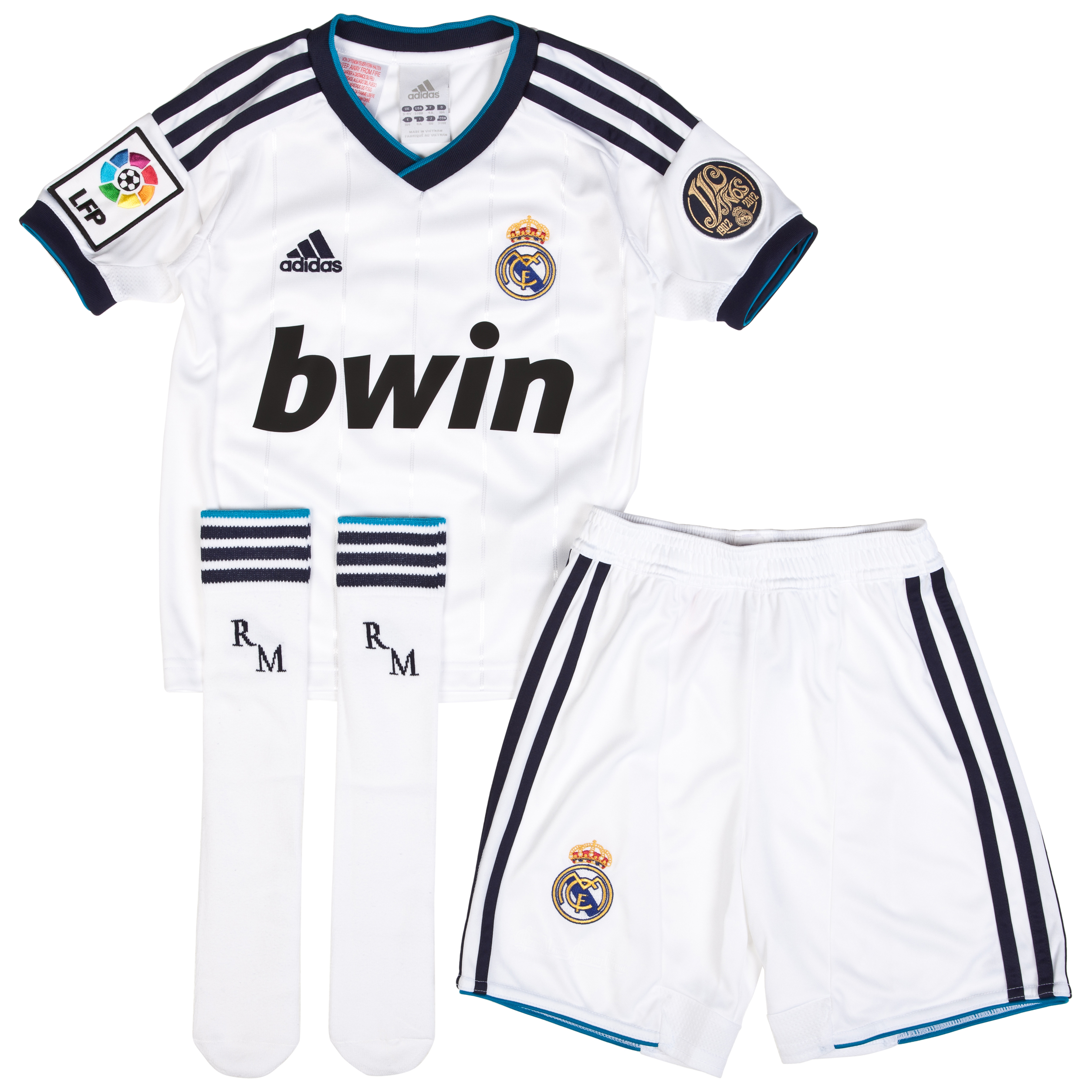 Mini kit local Real Madrid 2012/13