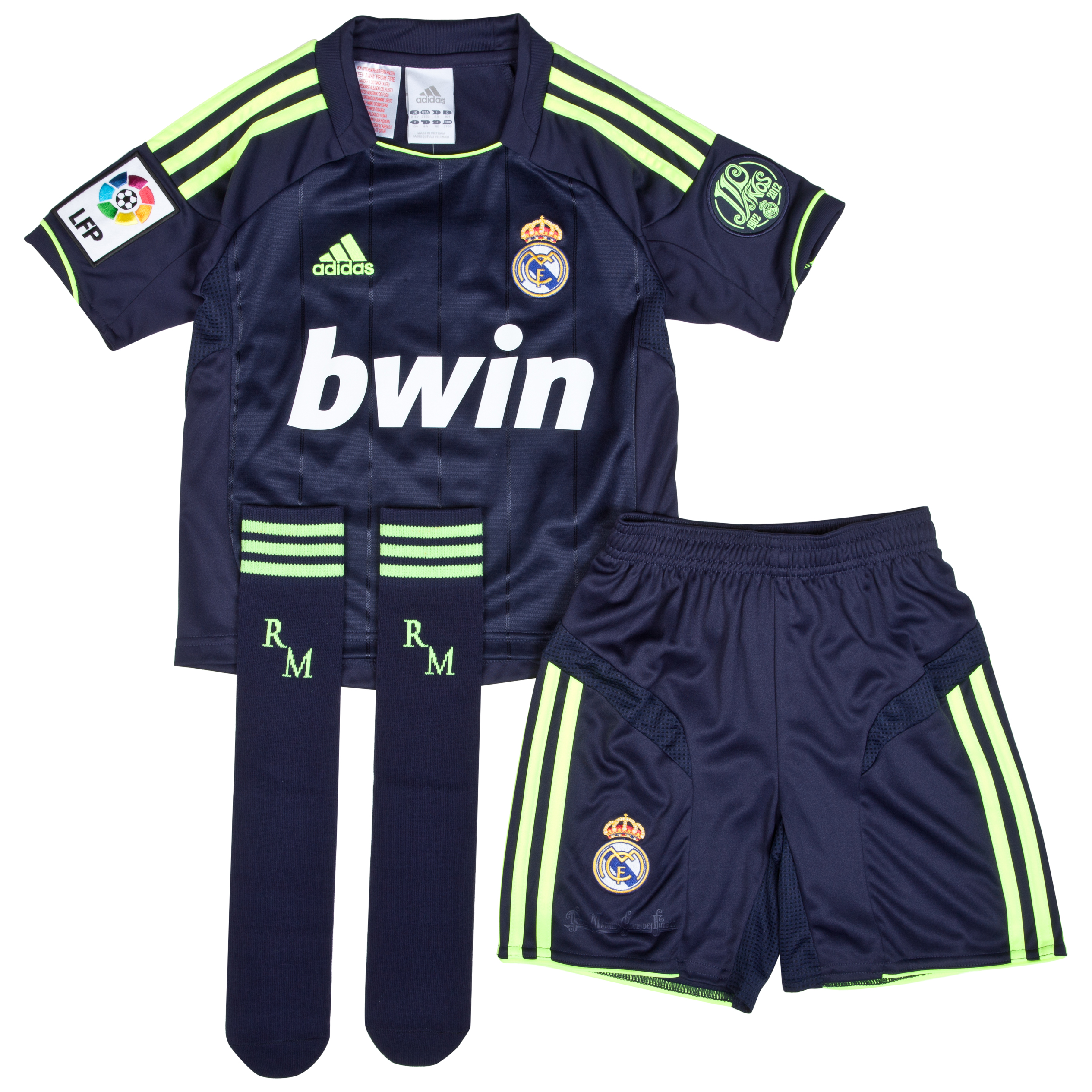 Mini kit visitante Real Madrid 2012/13