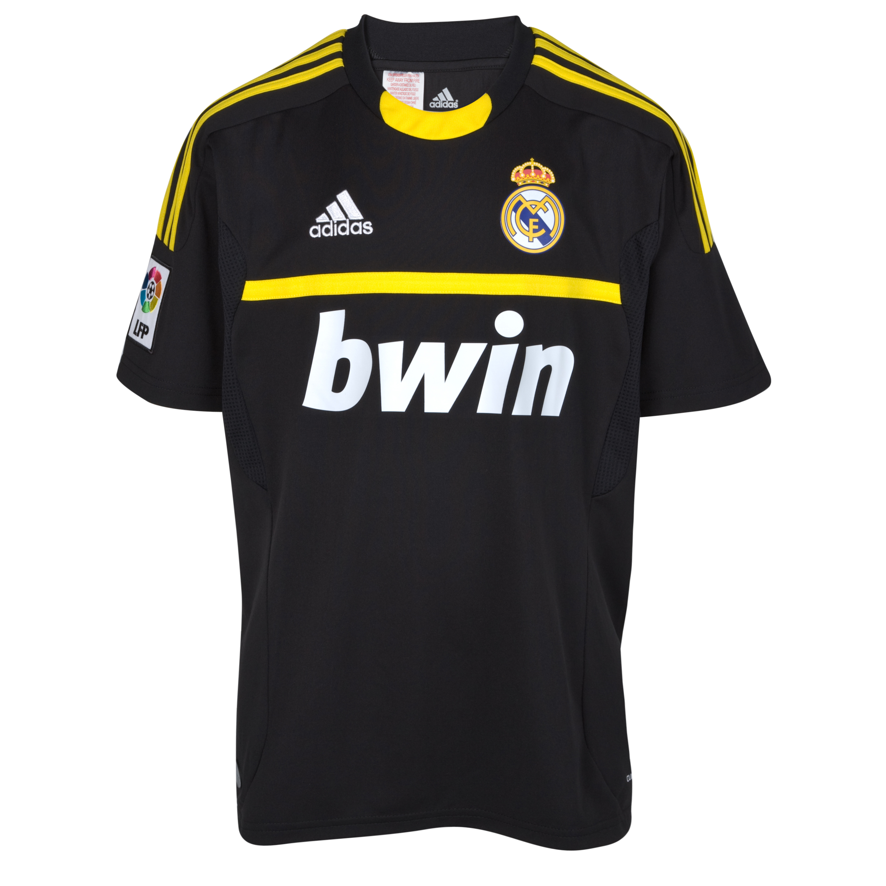 Buy Real Madrid Away Goalkeeper Kit 11/12 Black Kid