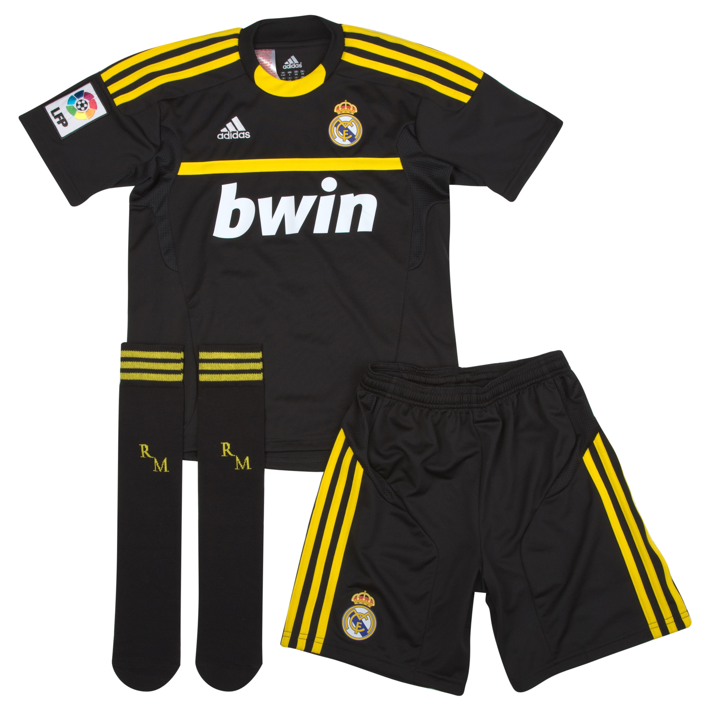 Buy Real Madrid Away Goalkeeper Mini Kit 11/12 Black 