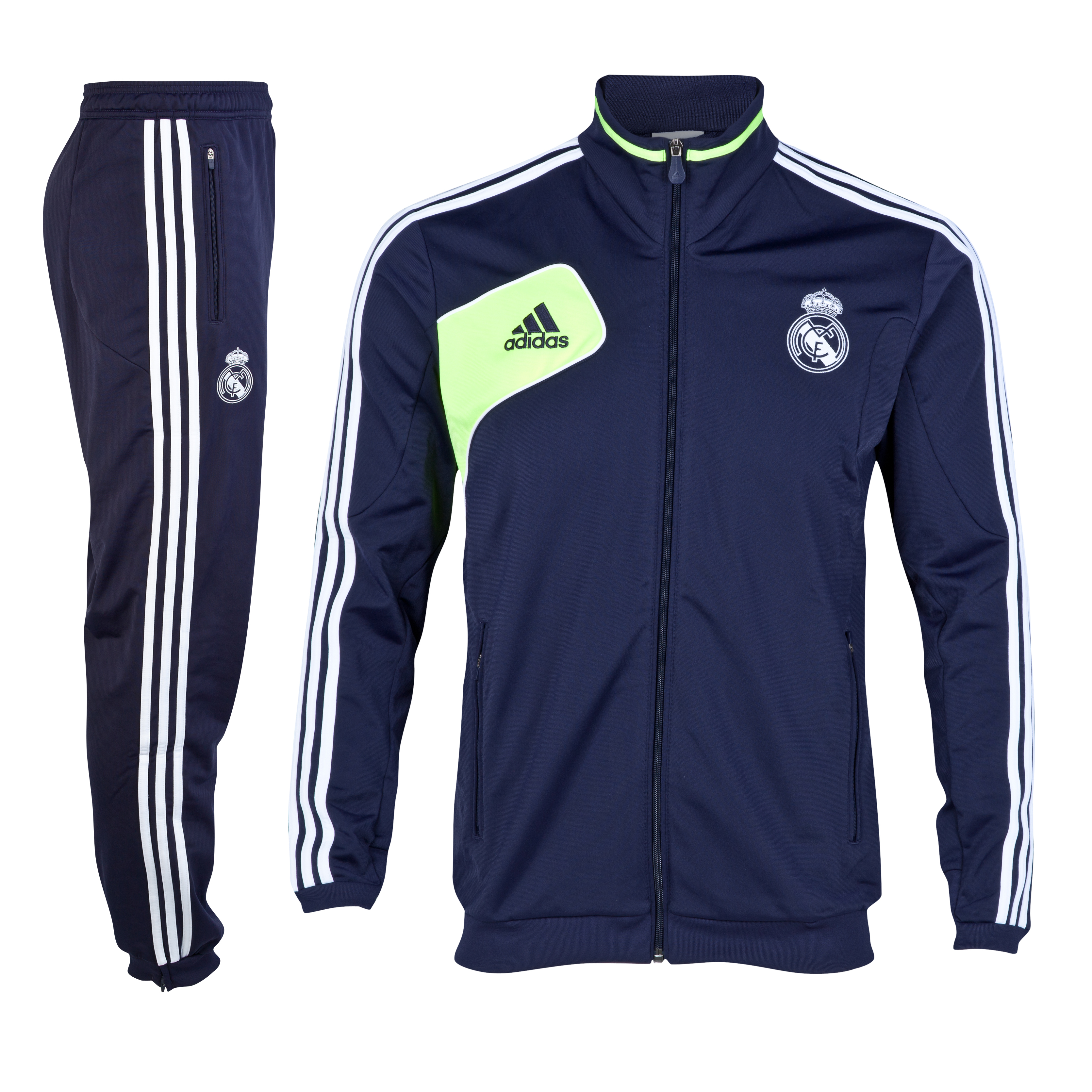 Real Madrid Training Presentation Suit - Noble Ink/Electricity/White