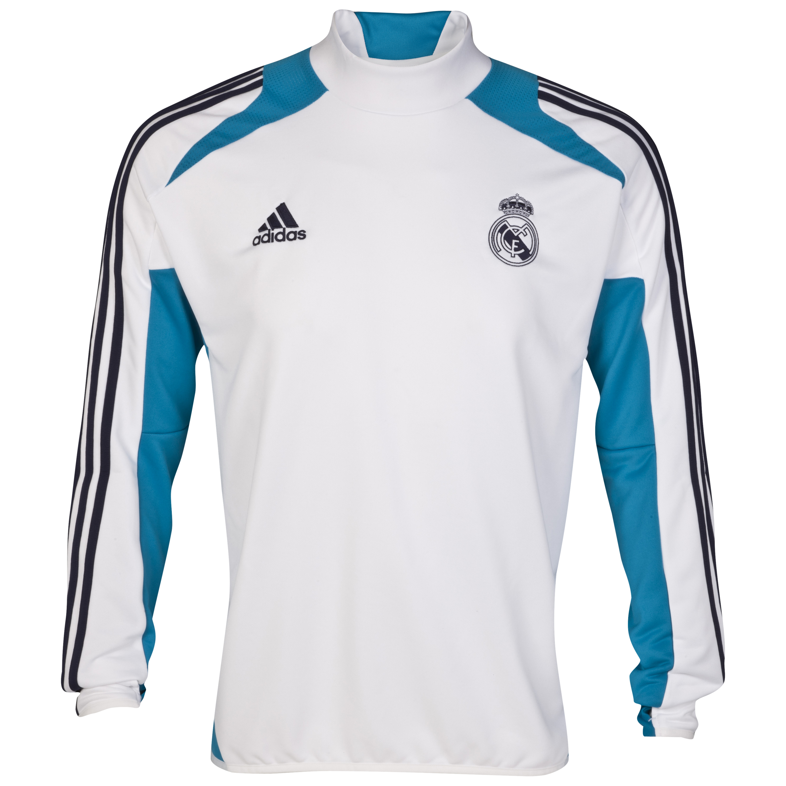 Real Madrid Training Top - White/Turquoise