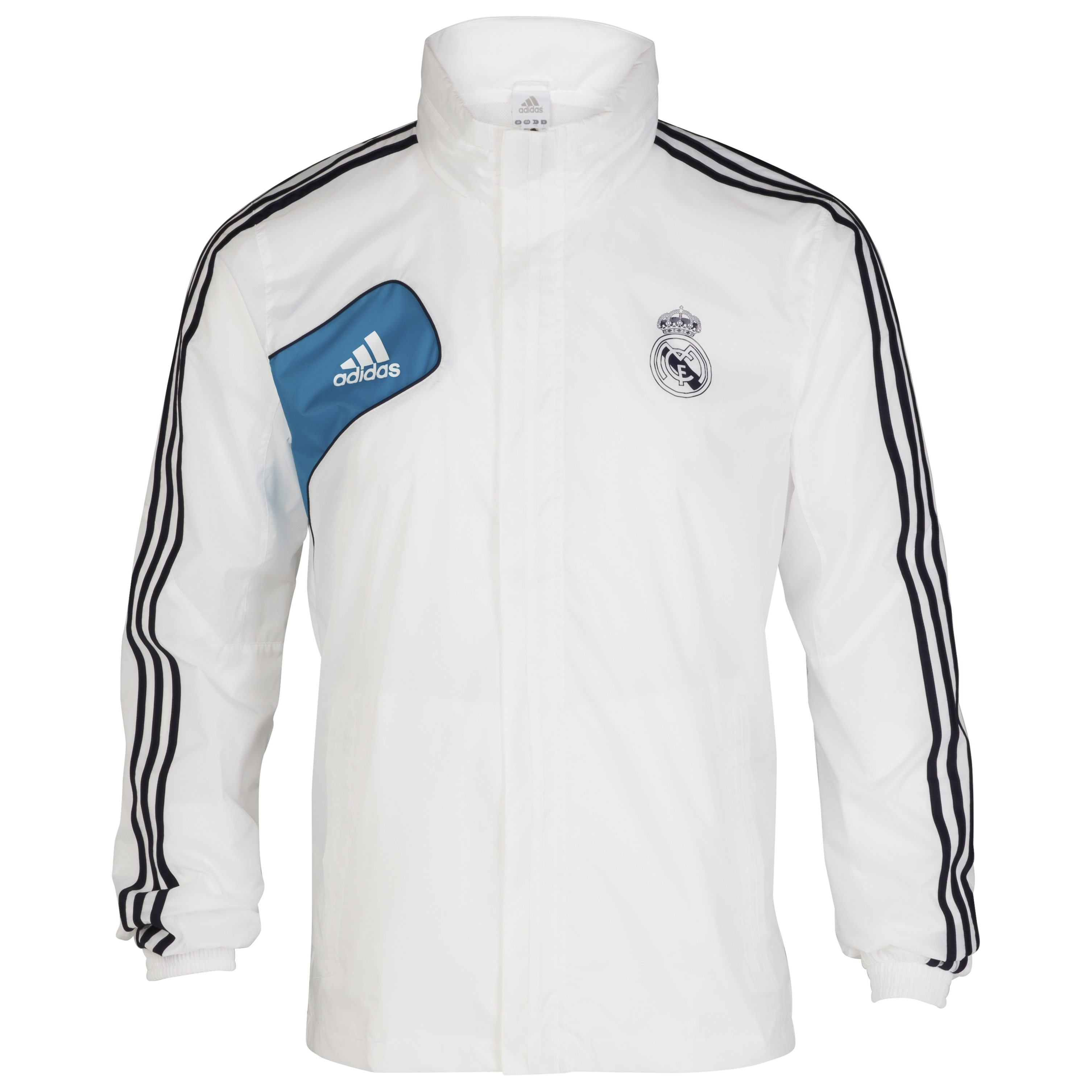 Real Madrid Training All Weather Jacket - White/Turquoise