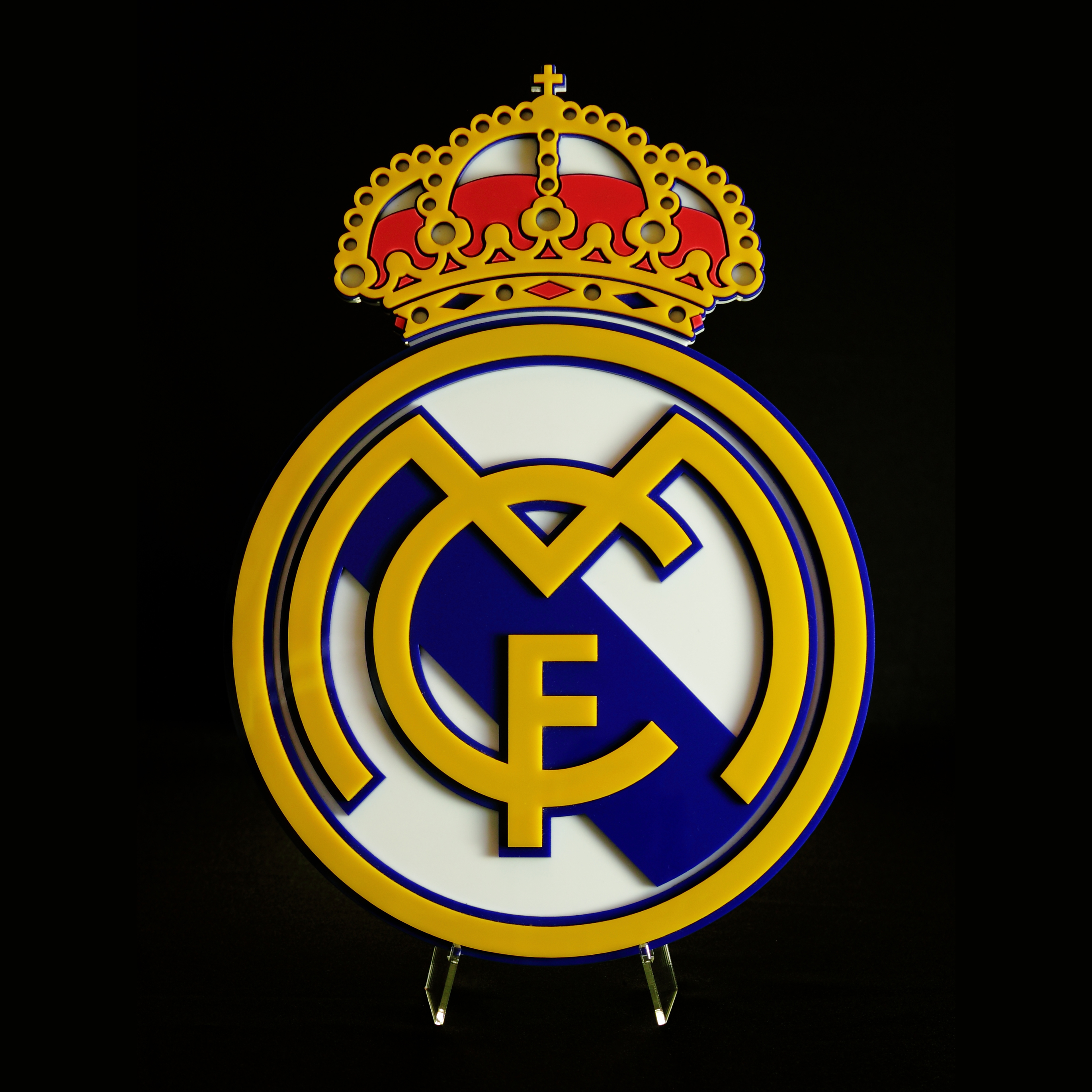 Real Madrid 3D Acrylic Crest with Stand