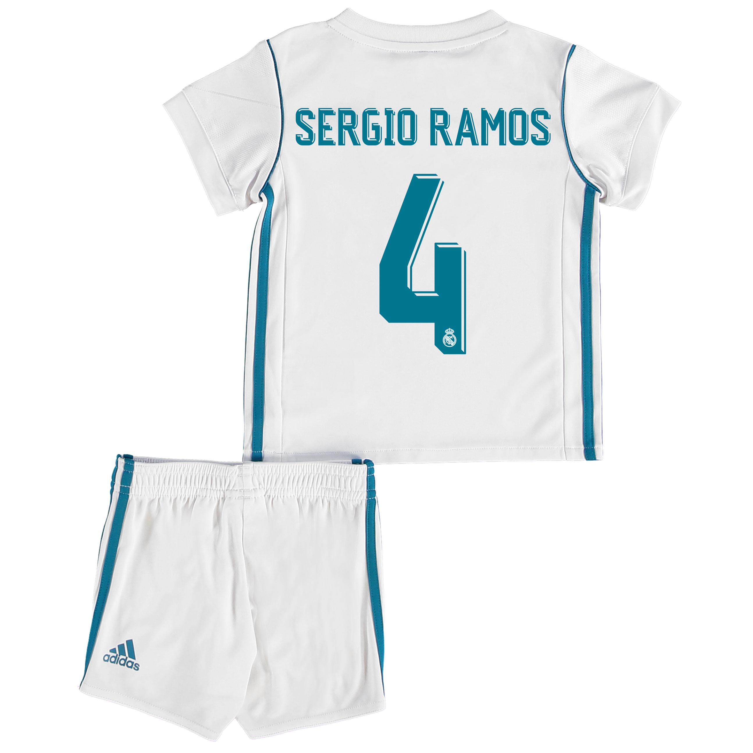 Real Madrid Home Baby Kit 2017-18 with Sergio Ramos 4 printing