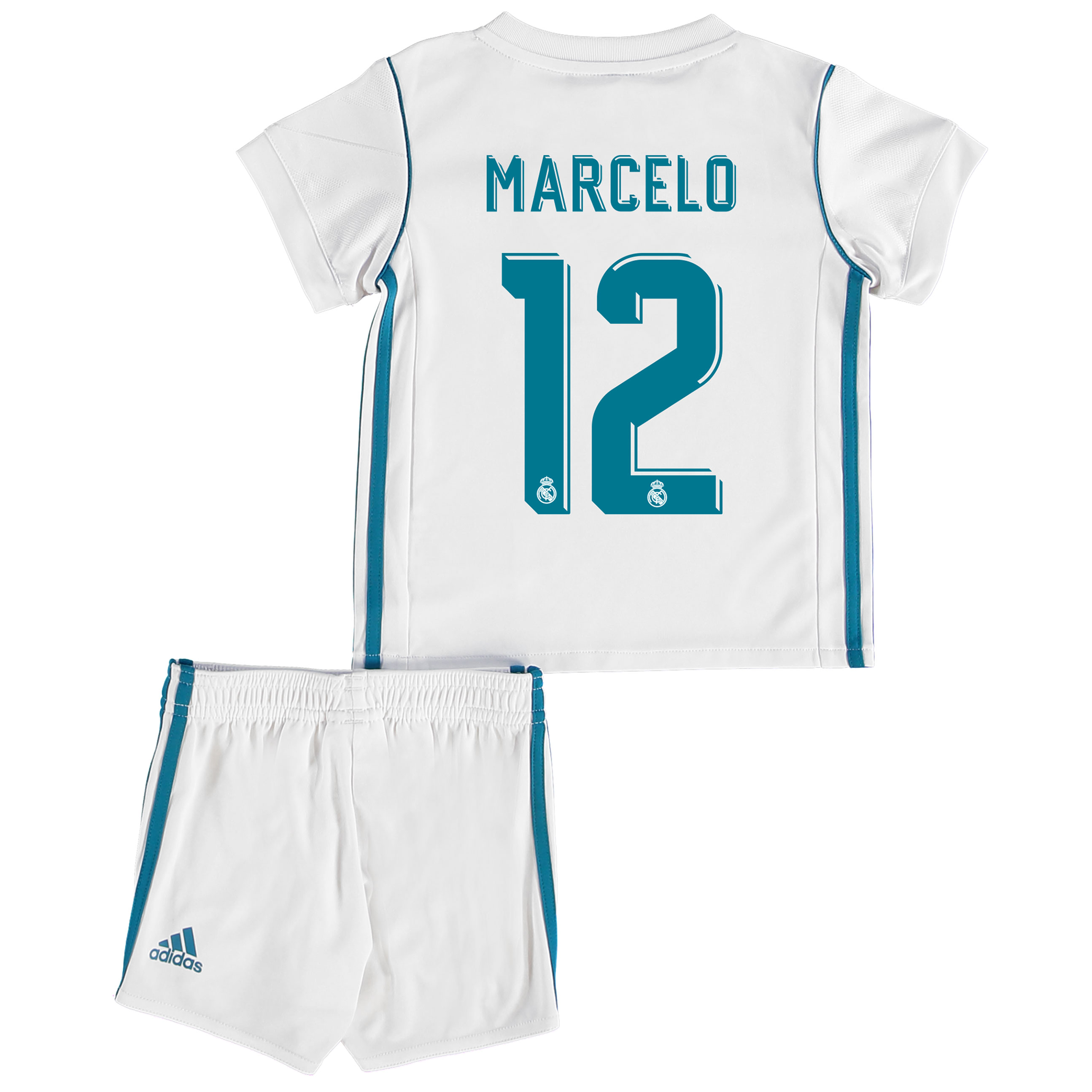 Real Madrid Home Baby Kit 2017-18 with Marcelo 12 printing