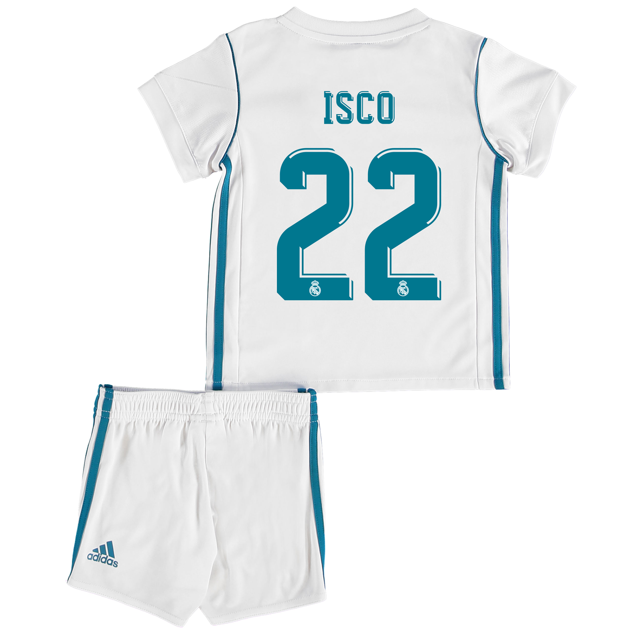 Real Madrid Home Baby Kit 2017-18 with Isco 22 printing