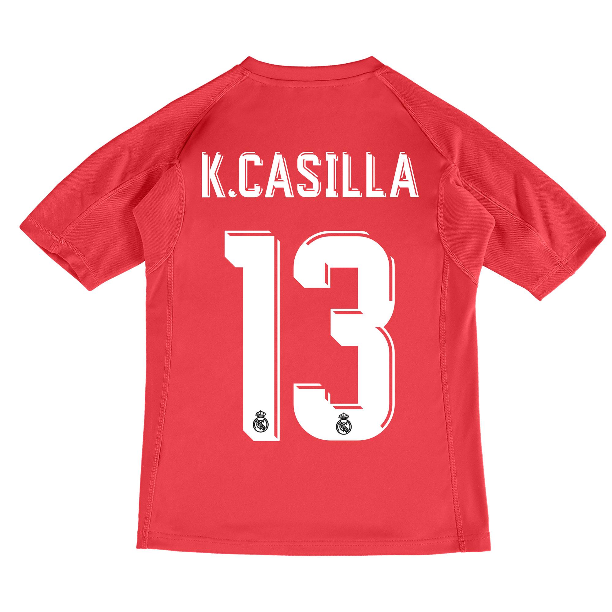 Real Madrid Away Goalkeeper Shirt 2017-18 - Kids with K.Casilla 13 pri