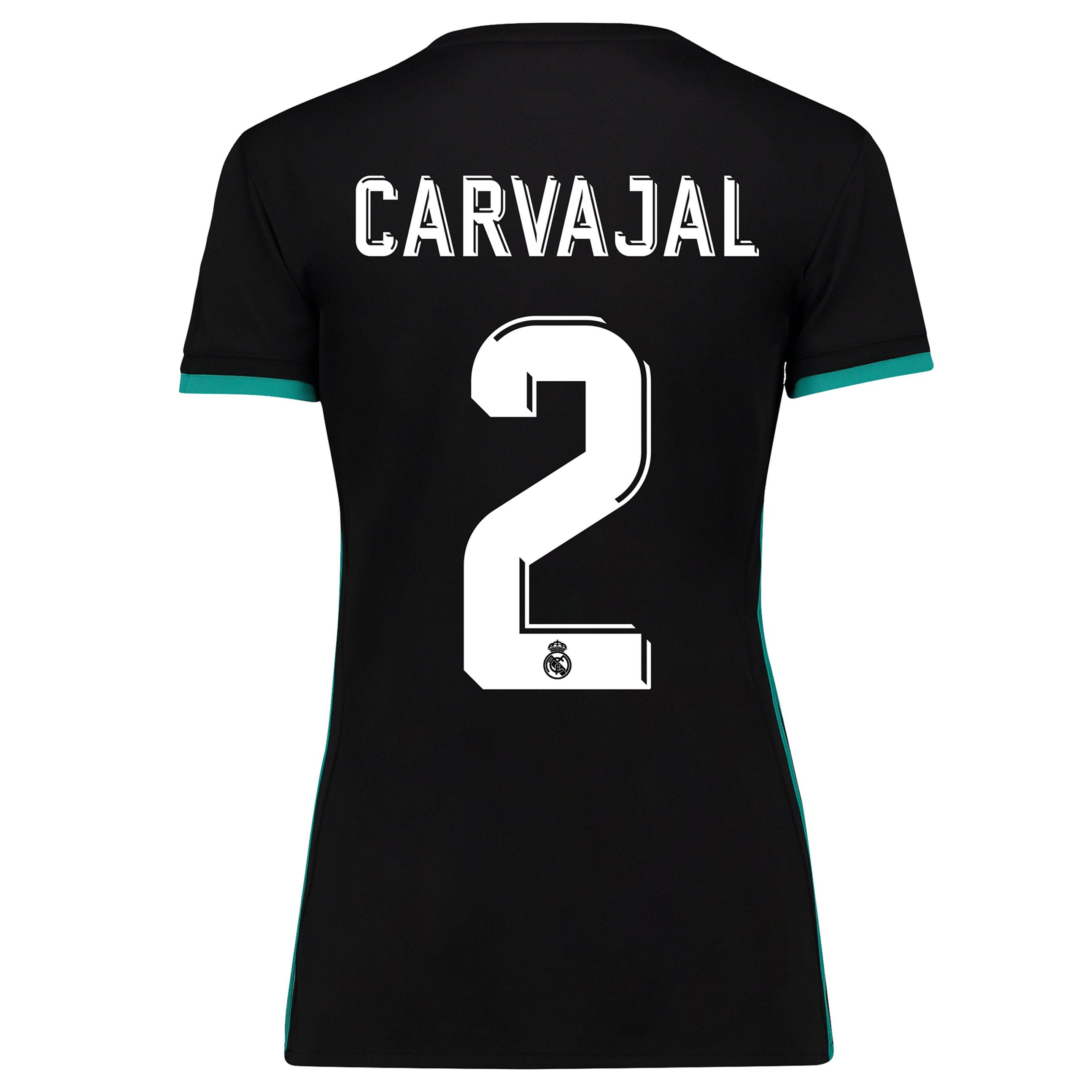 Camiseta de Carvajal 2 de mujer en manga corta - 2ª equipación del Real Madrid 2017/18