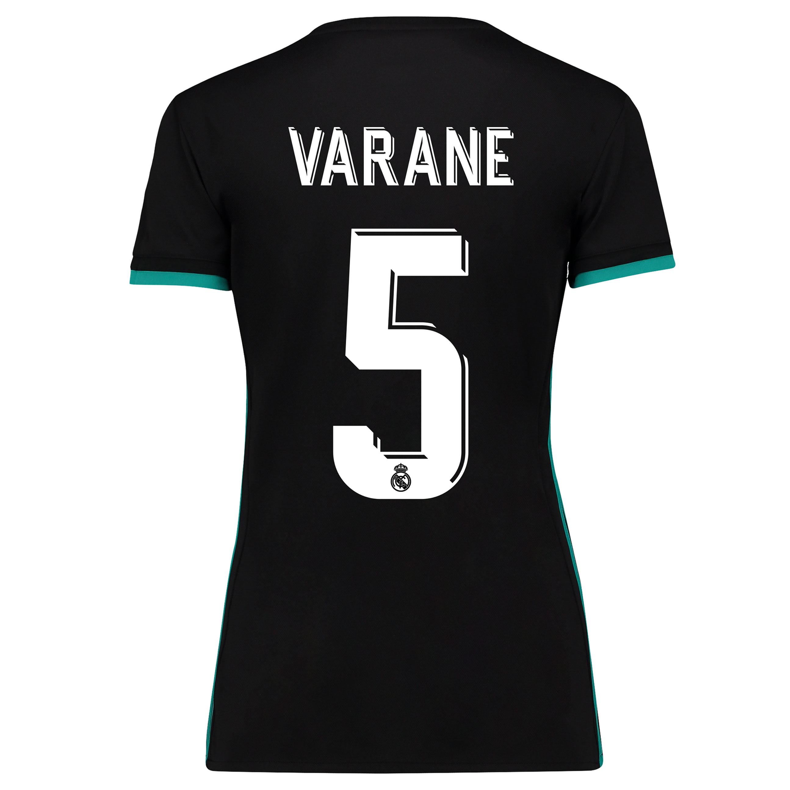 Camiseta de Varane 5 de mujer en manga corta - 2ª equipación del Real Madrid 2017/18