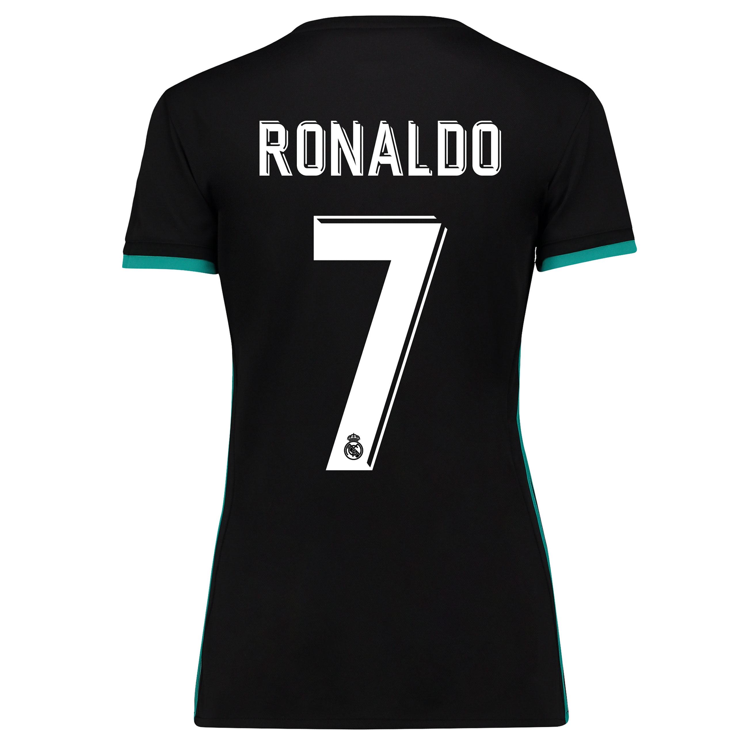 Camiseta de Ronaldo 7 de mujer en manga corta - 2ª equipación del Real Madrid 2017/18