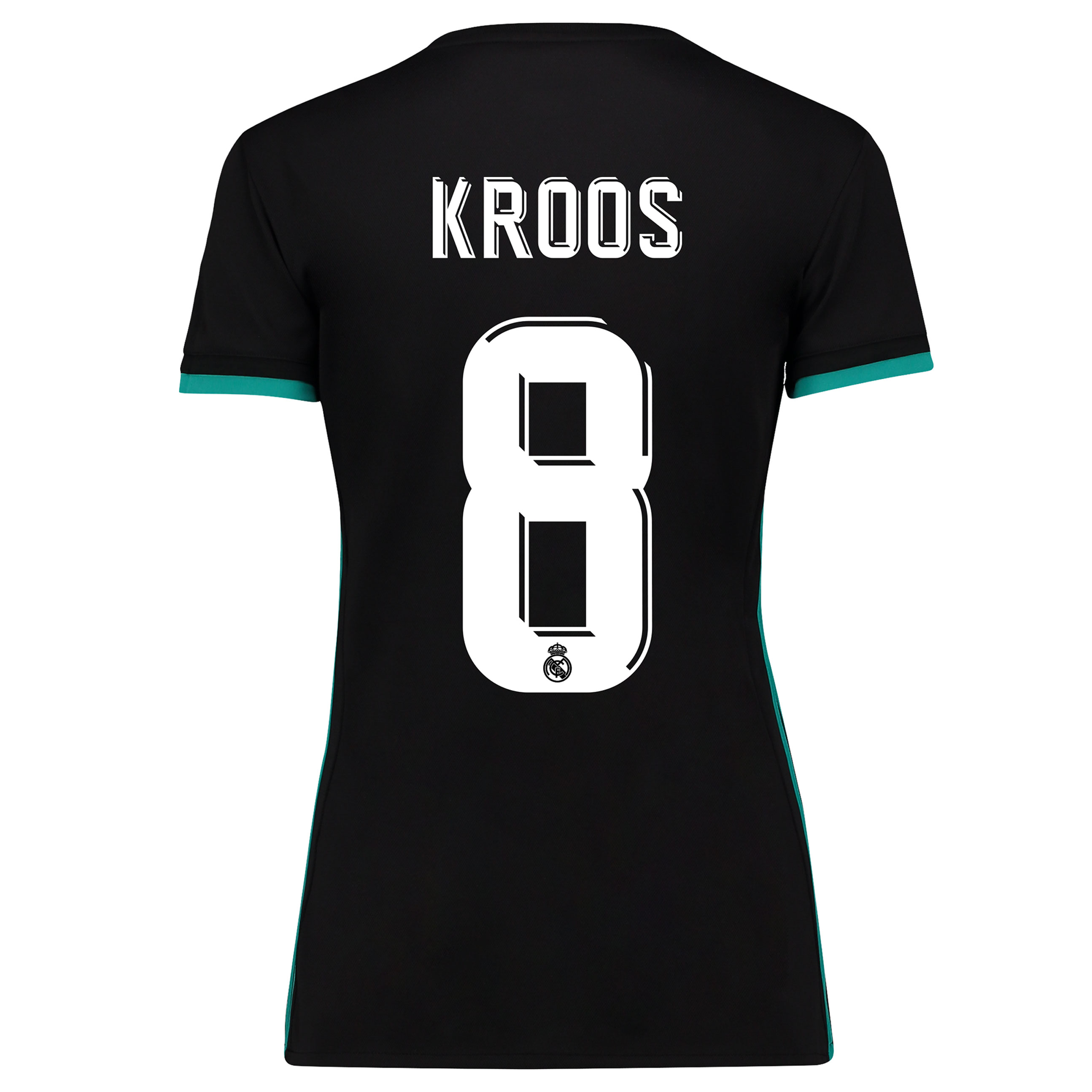 Camiseta de Kroos 8 de mujer en manga corta - 2ª equipación del Real Madrid 2017/18