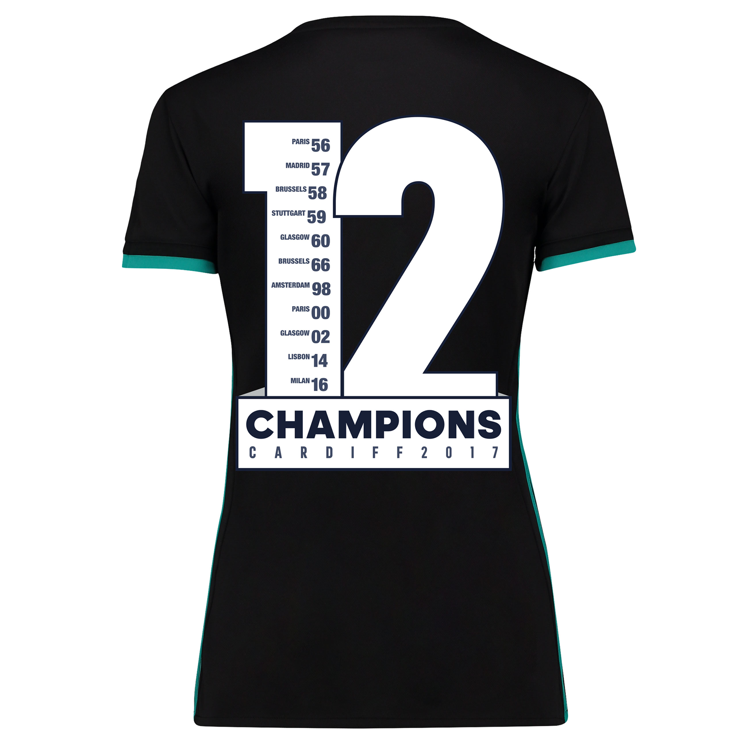 Camiseta de la 2ª equipación Real Madrid 2017/18 - Mujer con estampado Champions 12