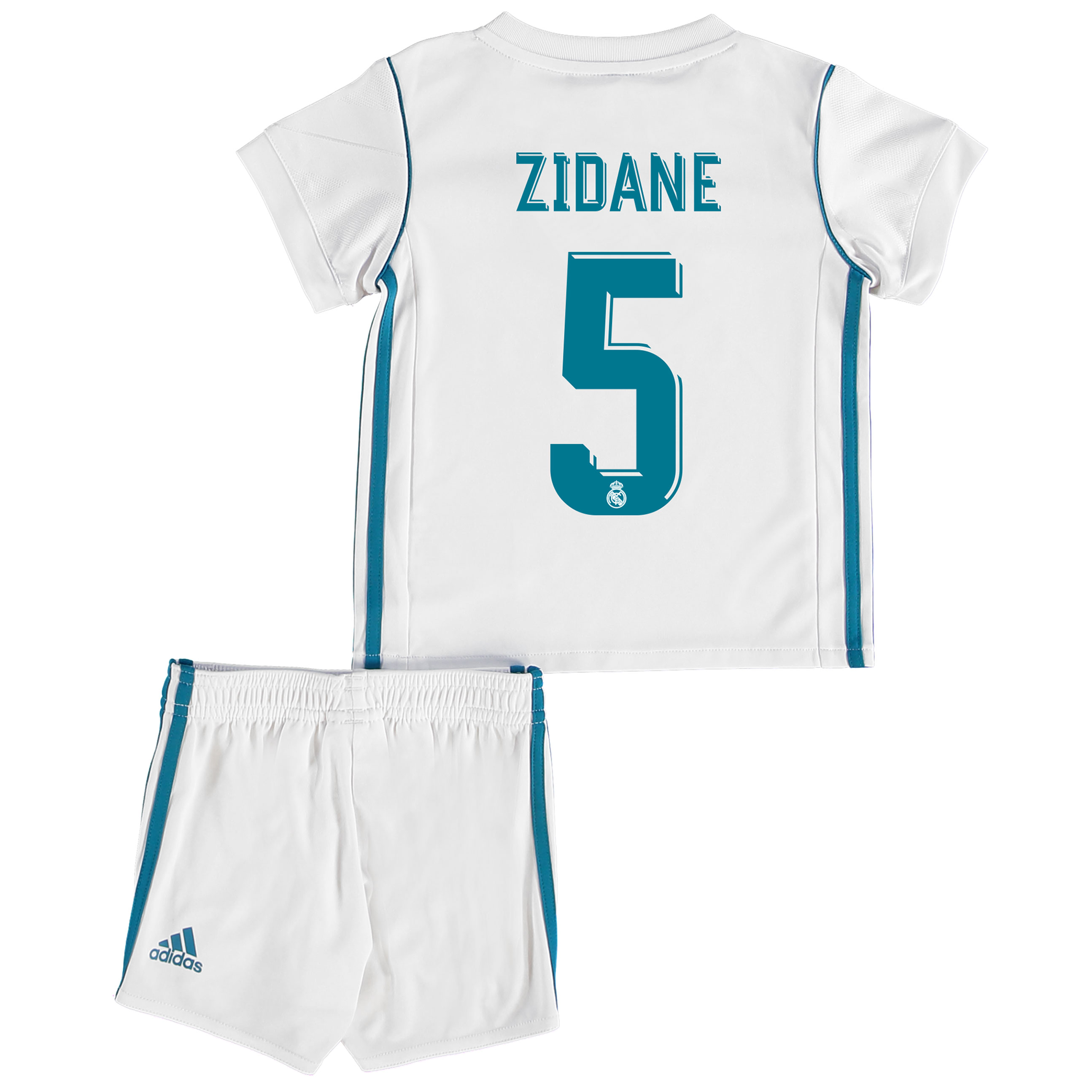 Real Madrid Home Baby Kit 2017-18 with Zidane 5 printing