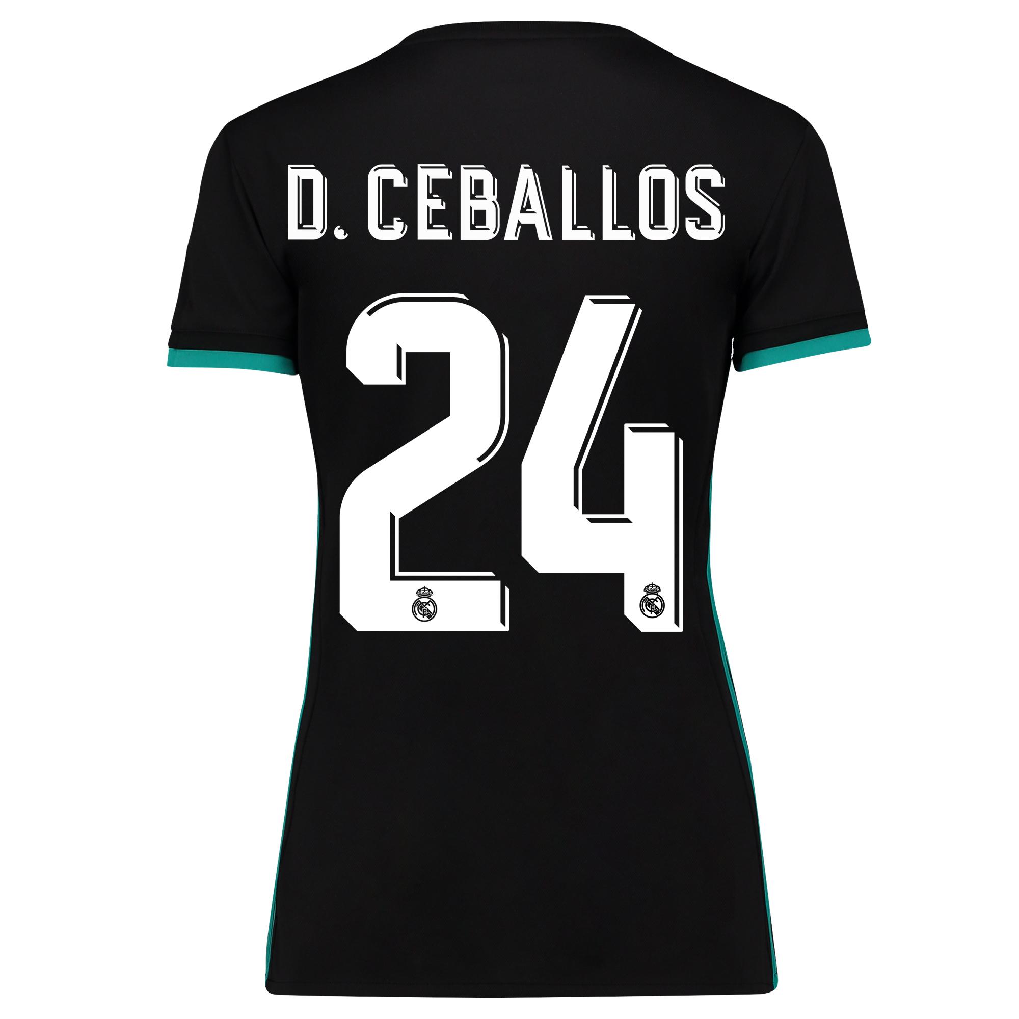Camiseta de la 2ª equipación Real Madrid 2017/18 - Mujer con estampado D. Ceballos 24