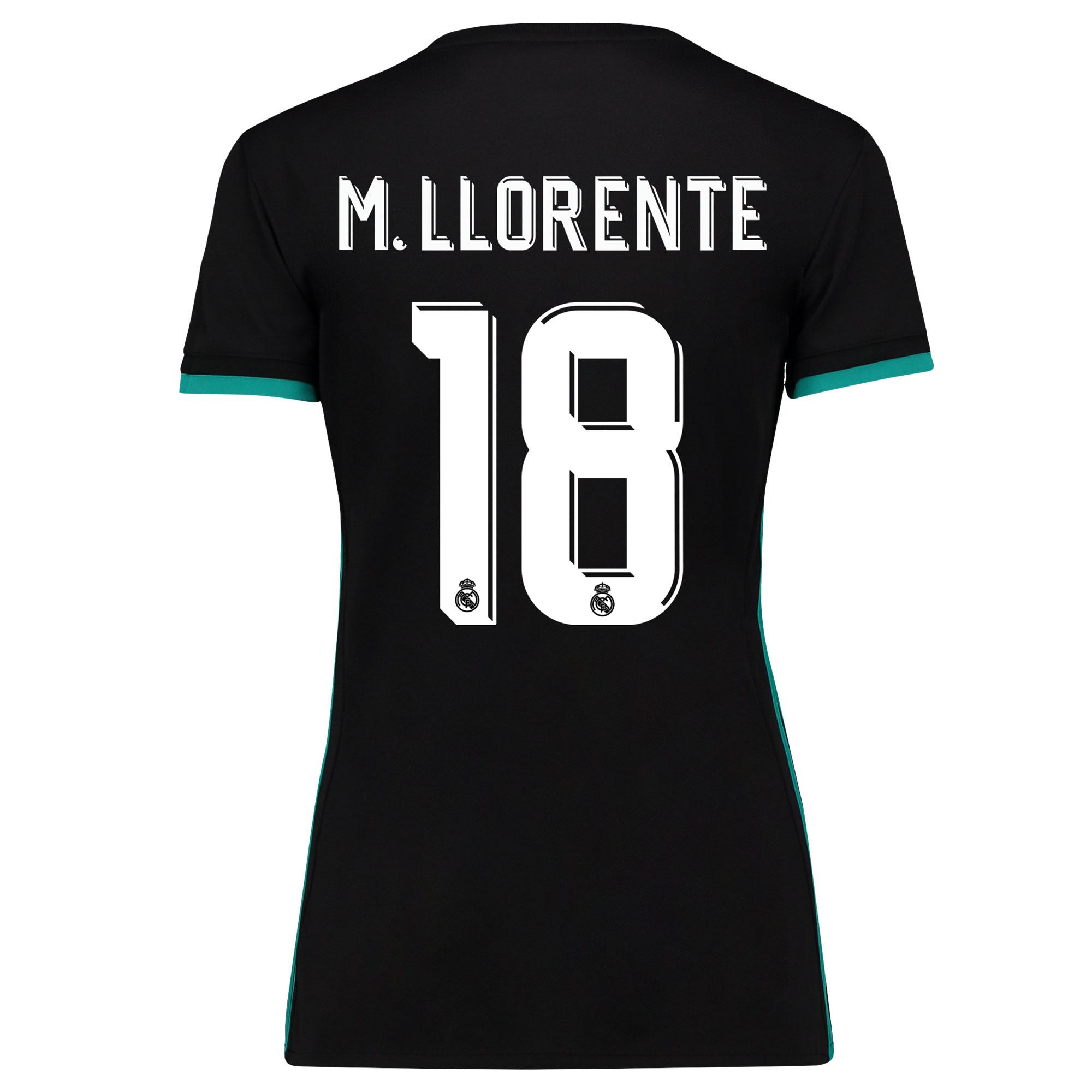 Camiseta de la 2ª equipación Real Madrid 2017/18 - Mujer con estampado M. Llorente 18