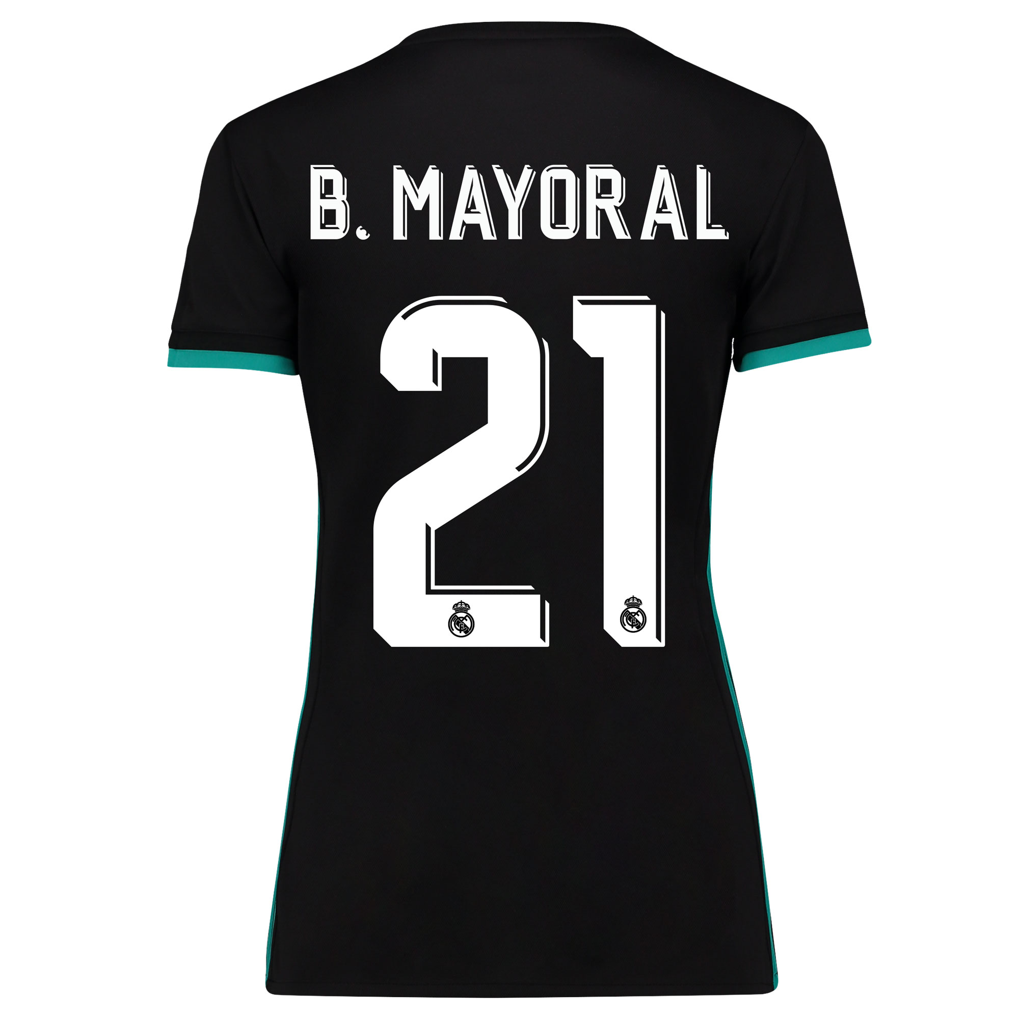 Camiseta de la 2ª equipación Real Madrid 2017/18 - Mujer con estampado B. Mayoral 21