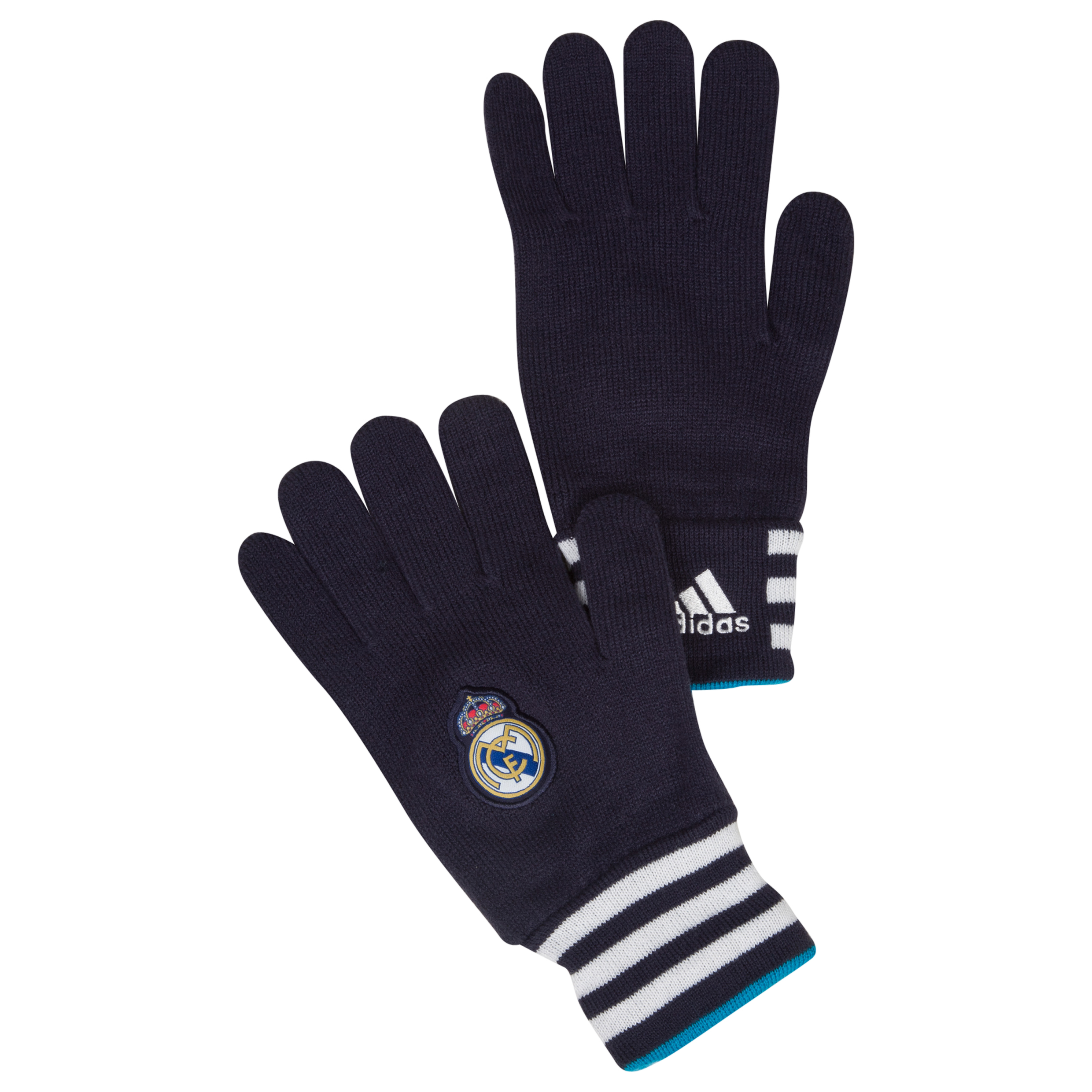 Real Madrid Gloves - Noble Ink/White
