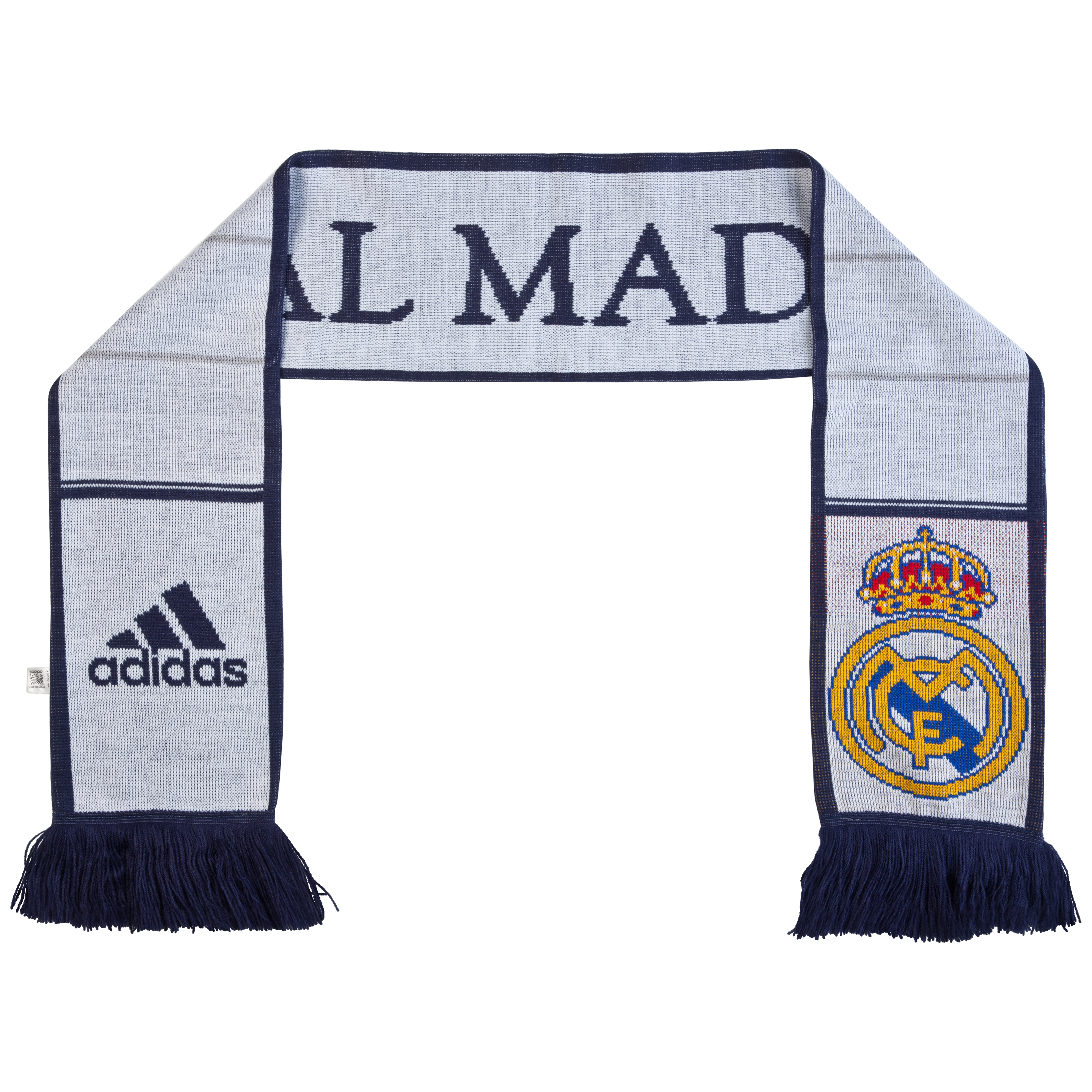 Real Madrid 3 Stripe Scarf 1 - White/Noble Ink