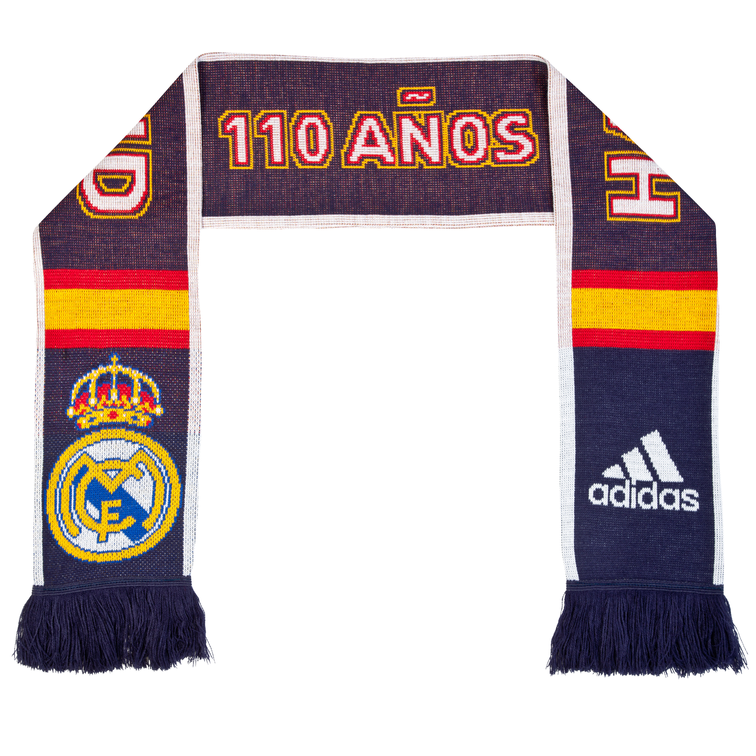 Real Madrid 3 Stripe Scarf 2 - Noble Ink/White