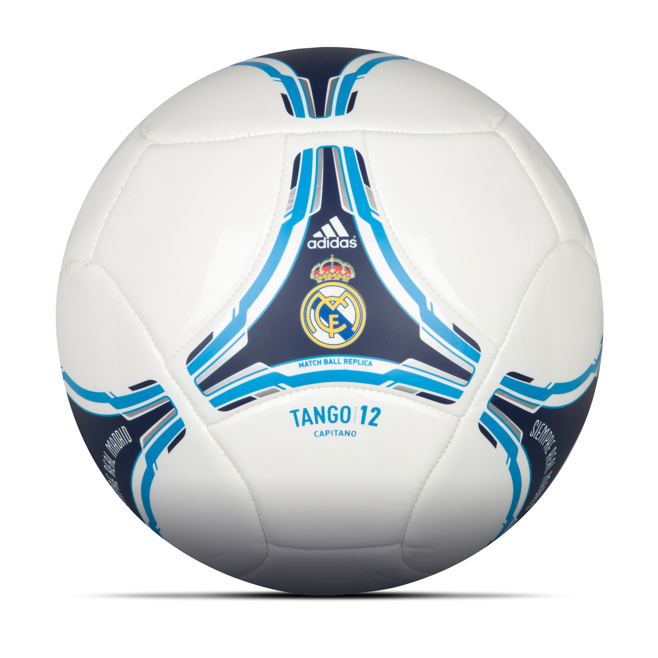 adidas Real Madrid 2012 Capitano Football - White/Noble Ink S10/Turquoise