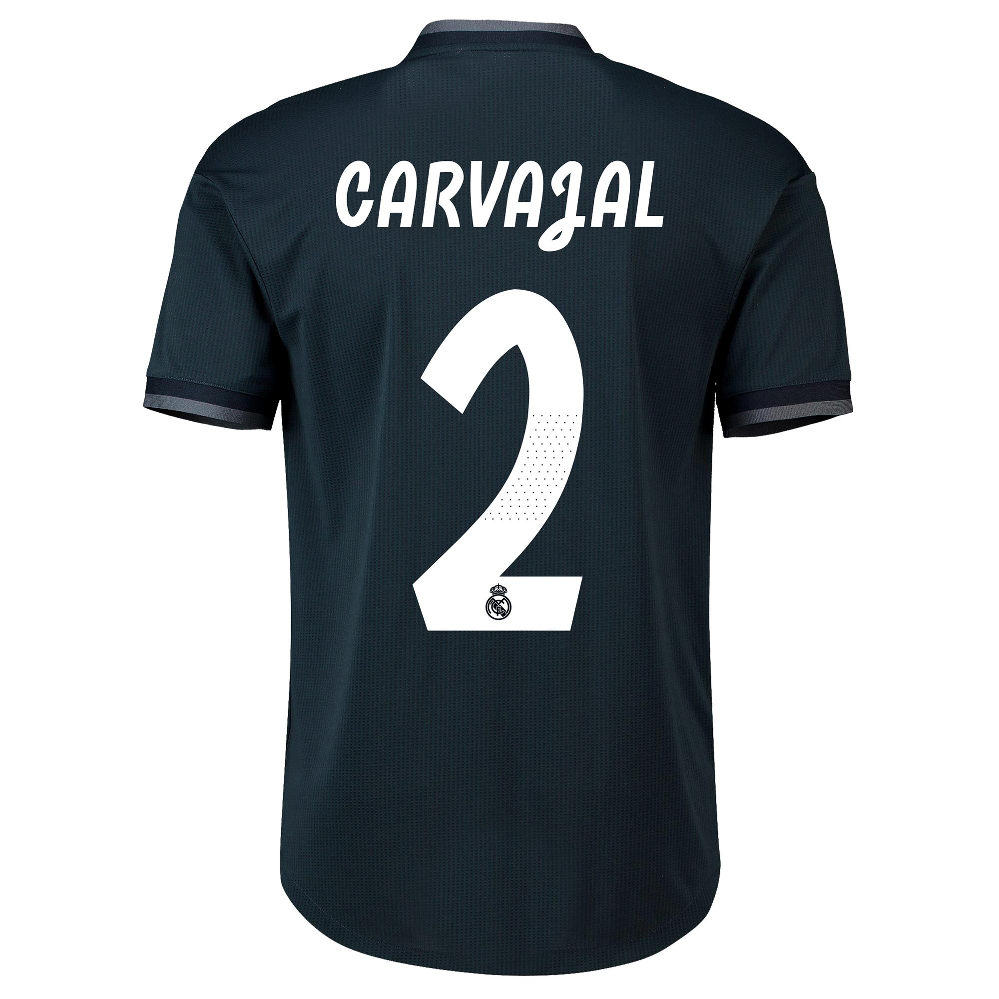 Image of Real Madrid Away Adi Zero Shirt 2018-19 with Carvajal 2 printing