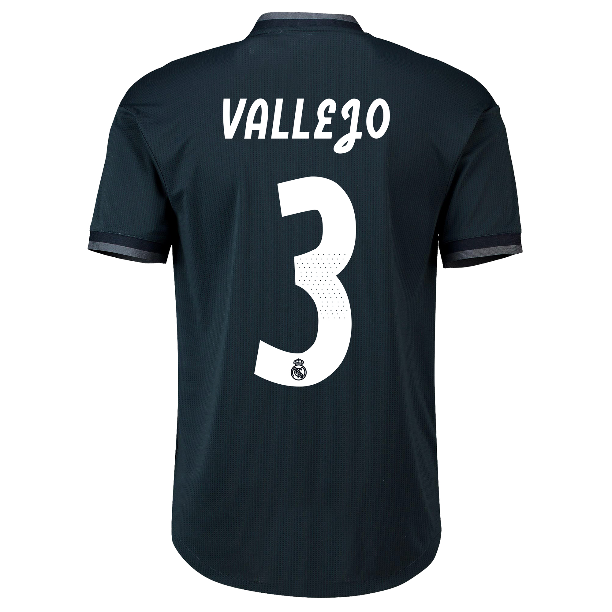 Image of Real Madrid Away Adi Zero Shirt 2018-19 with Vallejo 3 printing