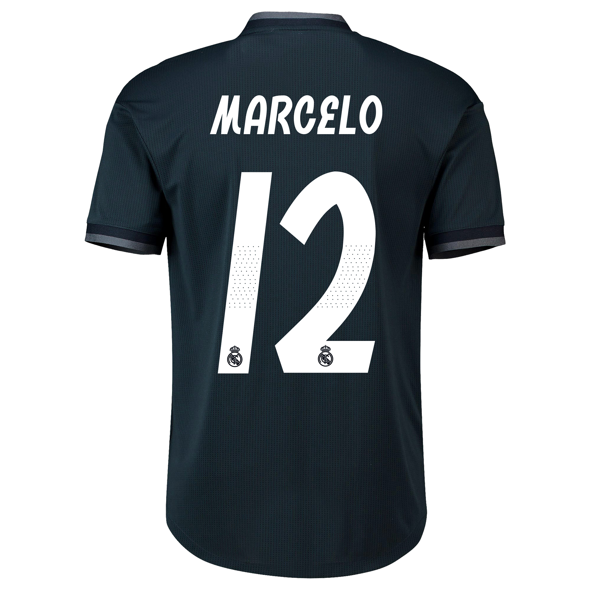 Image of Real Madrid Away Adi Zero Shirt 2018-19 with Marcelo 12 printing
