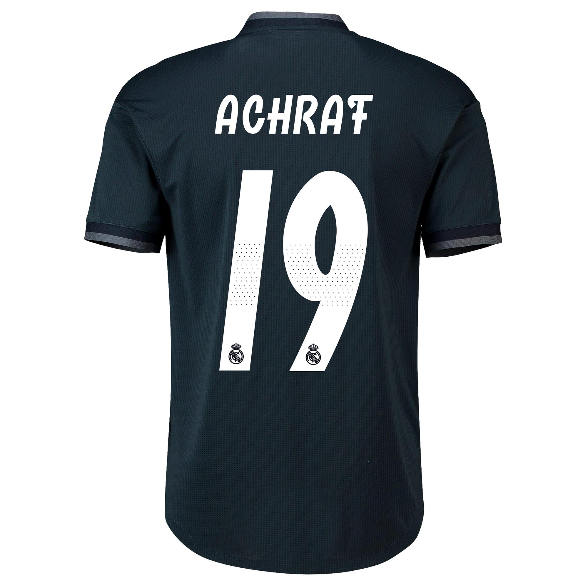 Image of Real Madrid Away Adi Zero Shirt 2018-19 with Achraf 19 printing