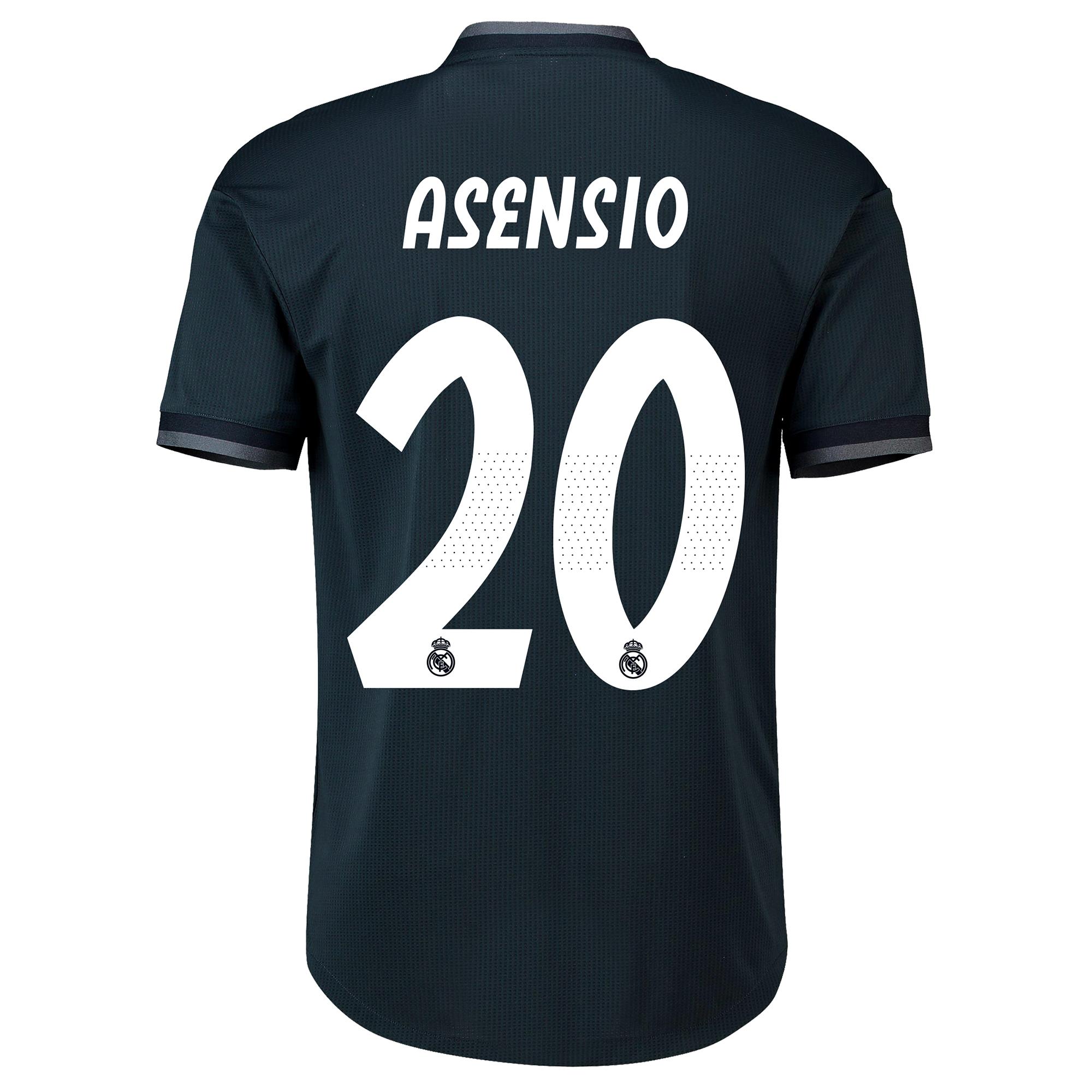 Image of Real Madrid Away Adi Zero Shirt 2018-19 with Asensio 20 printing
