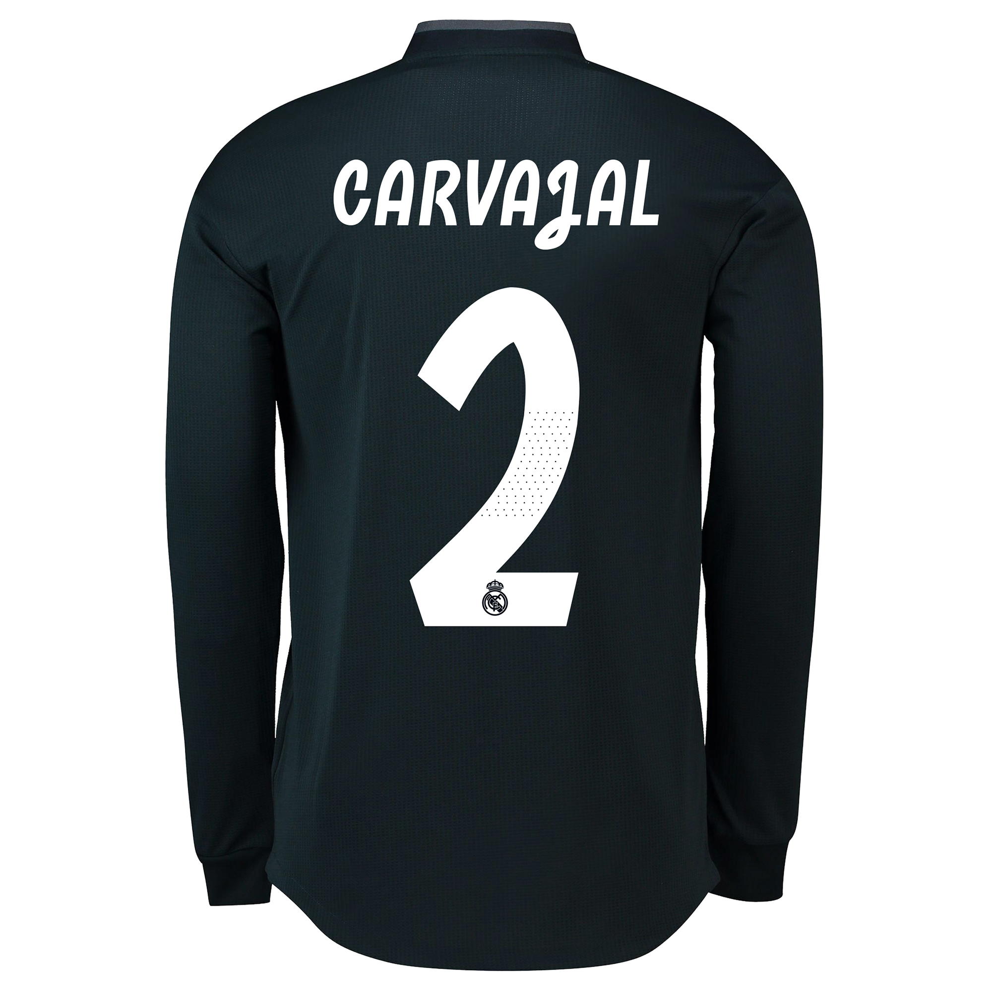 Image of Real Madrid Away Adi Zero Shirt 2018-19 - Long Sleeve with Carvajal 2 printing