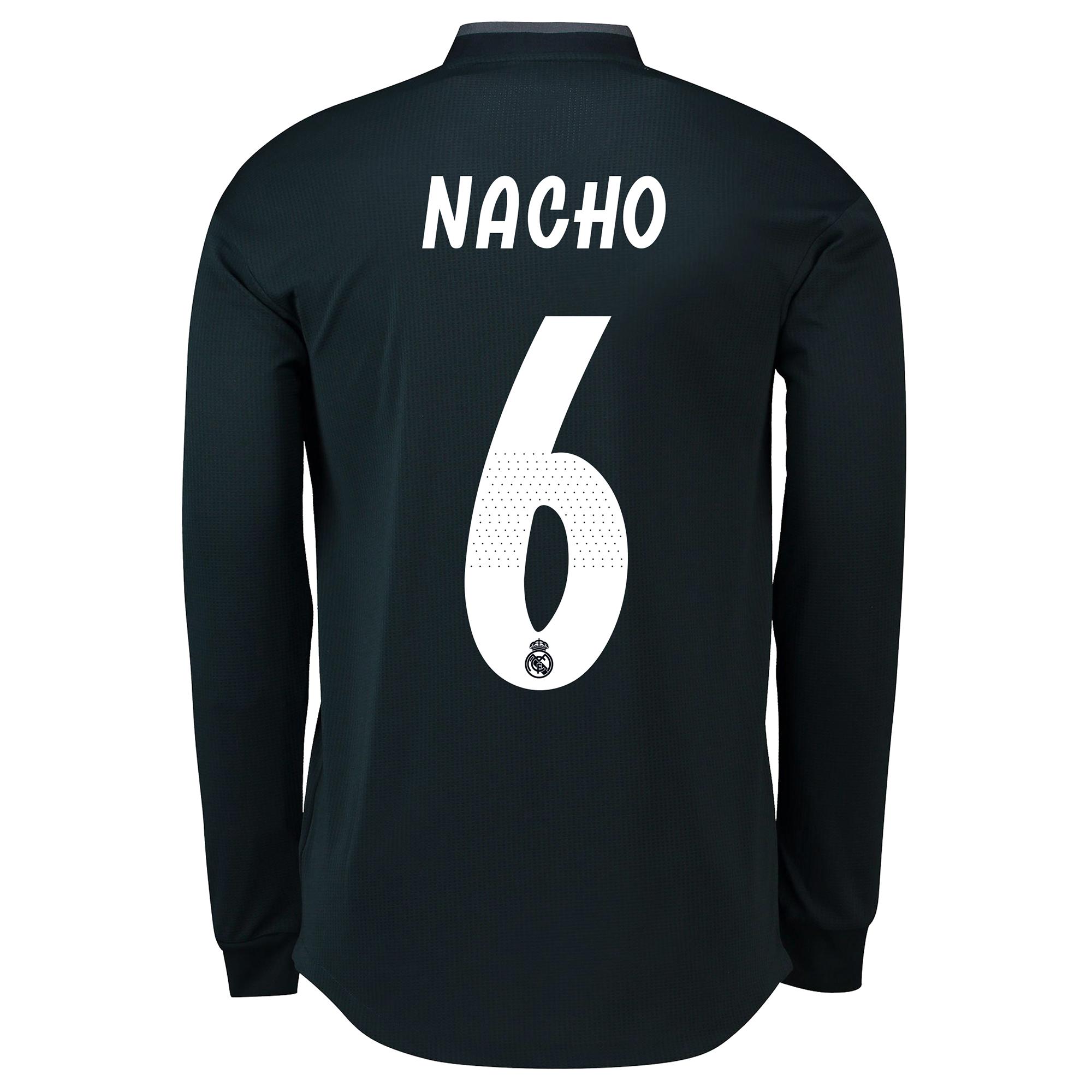 Image of Real Madrid Away Adi Zero Shirt 2018-19 - Long Sleeve with Nacho 6 printing