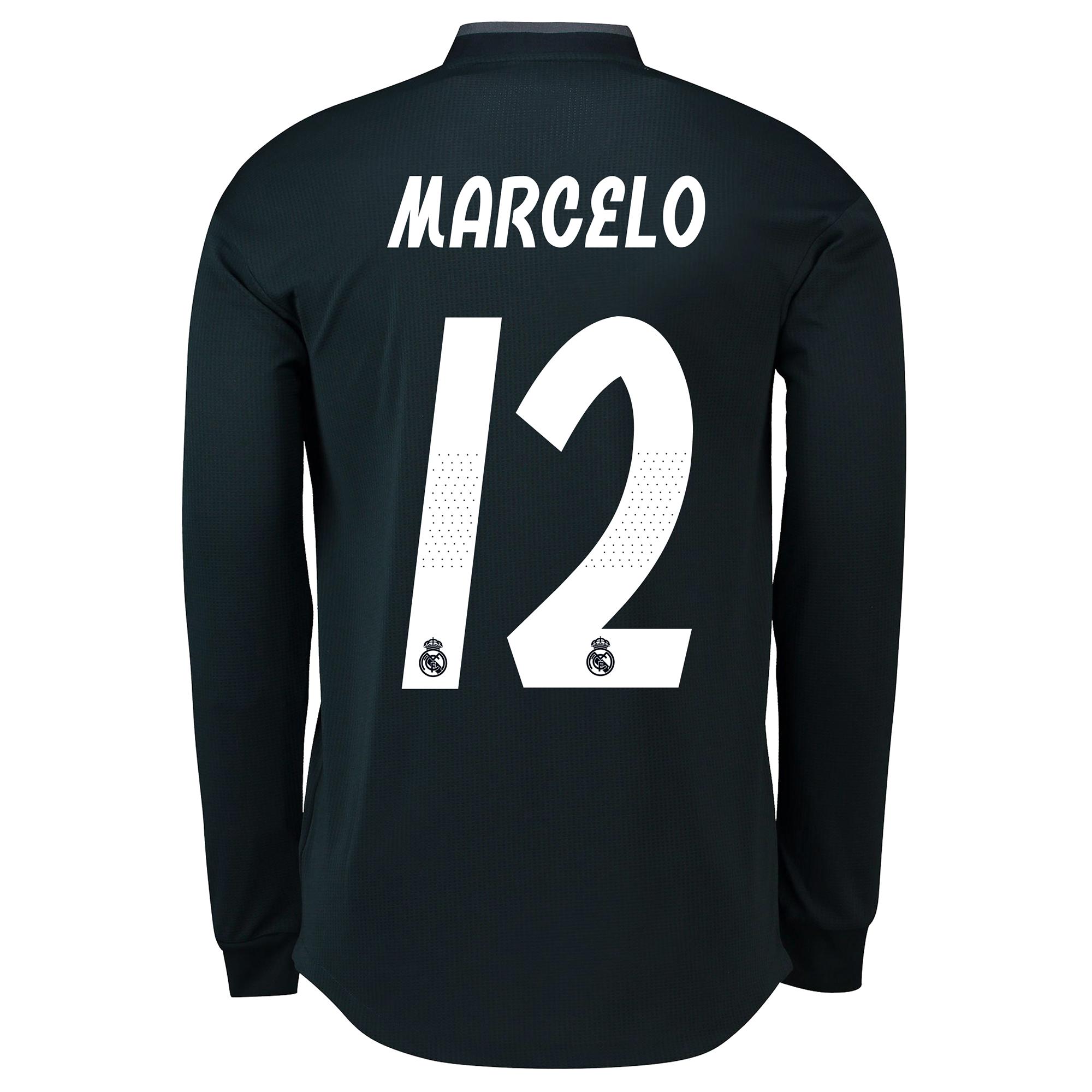 Image of Real Madrid Away Adi Zero Shirt 2018-19 - Long Sleeve with Marcelo 12 printing