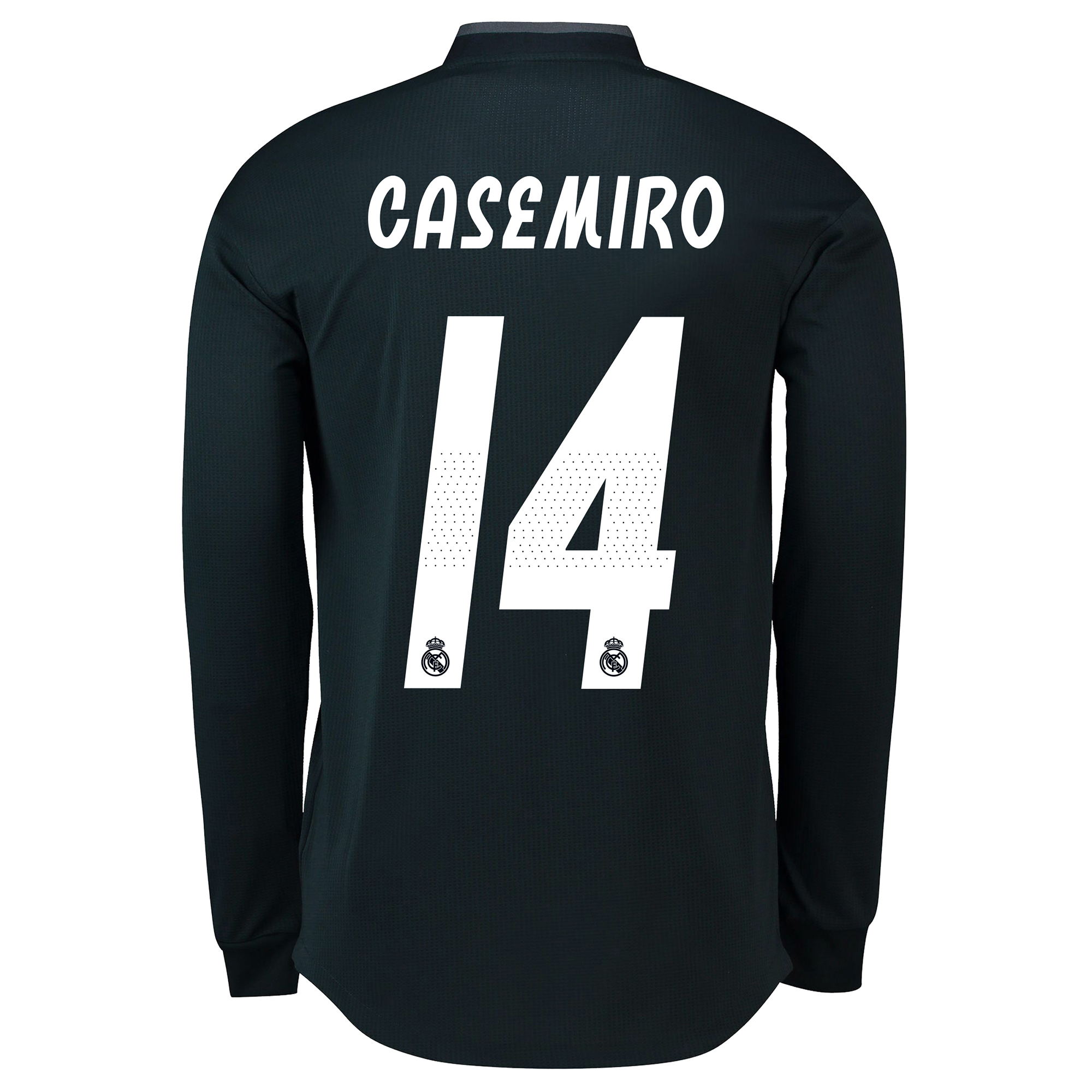 Image of Real Madrid Away Adi Zero Shirt 2018-19 - Long Sleeve with Casemiro 14 printing